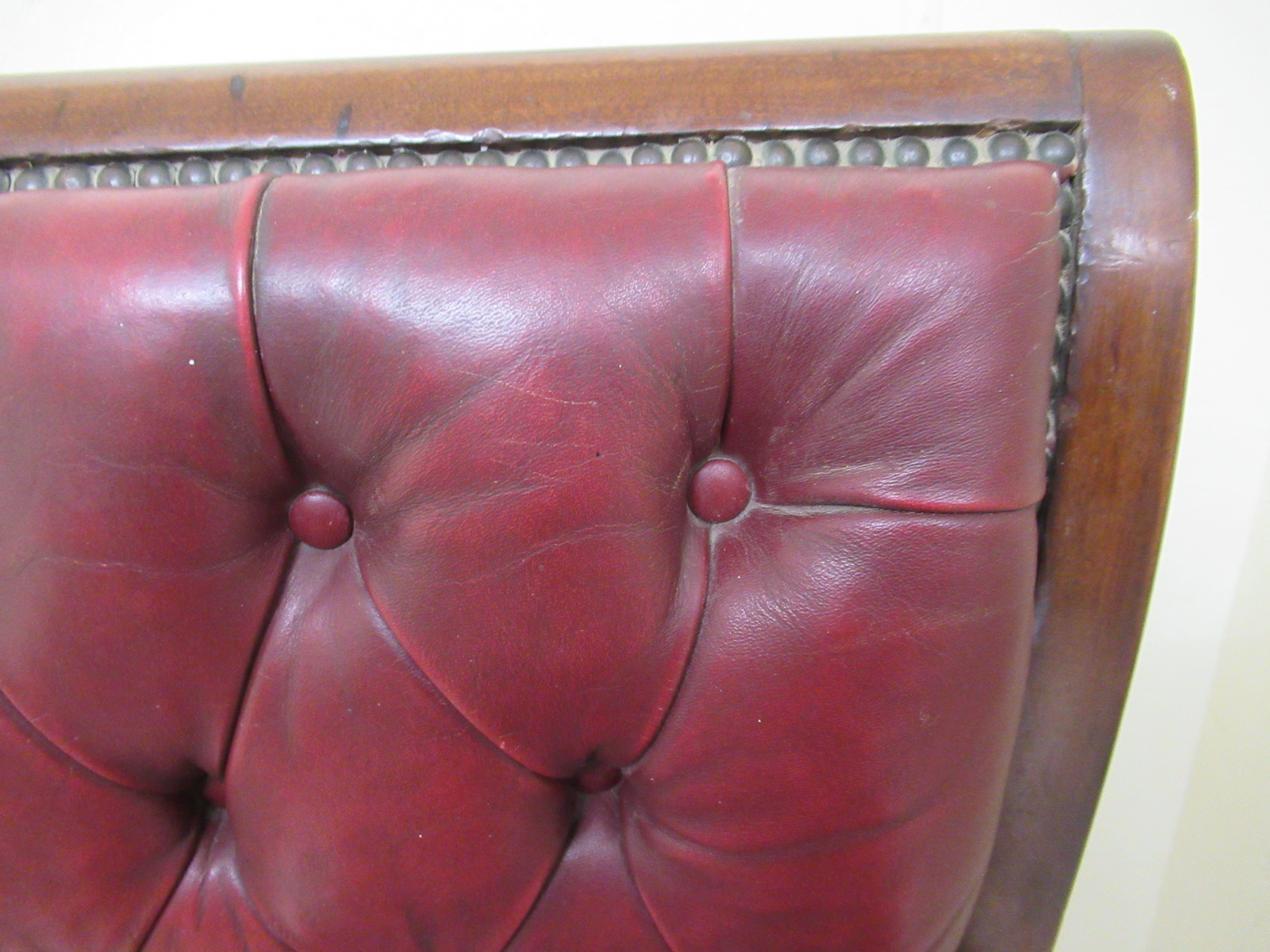 A William IV mahogany framed reclining library chair, the Daws Patent action having a height - Image 7 of 12