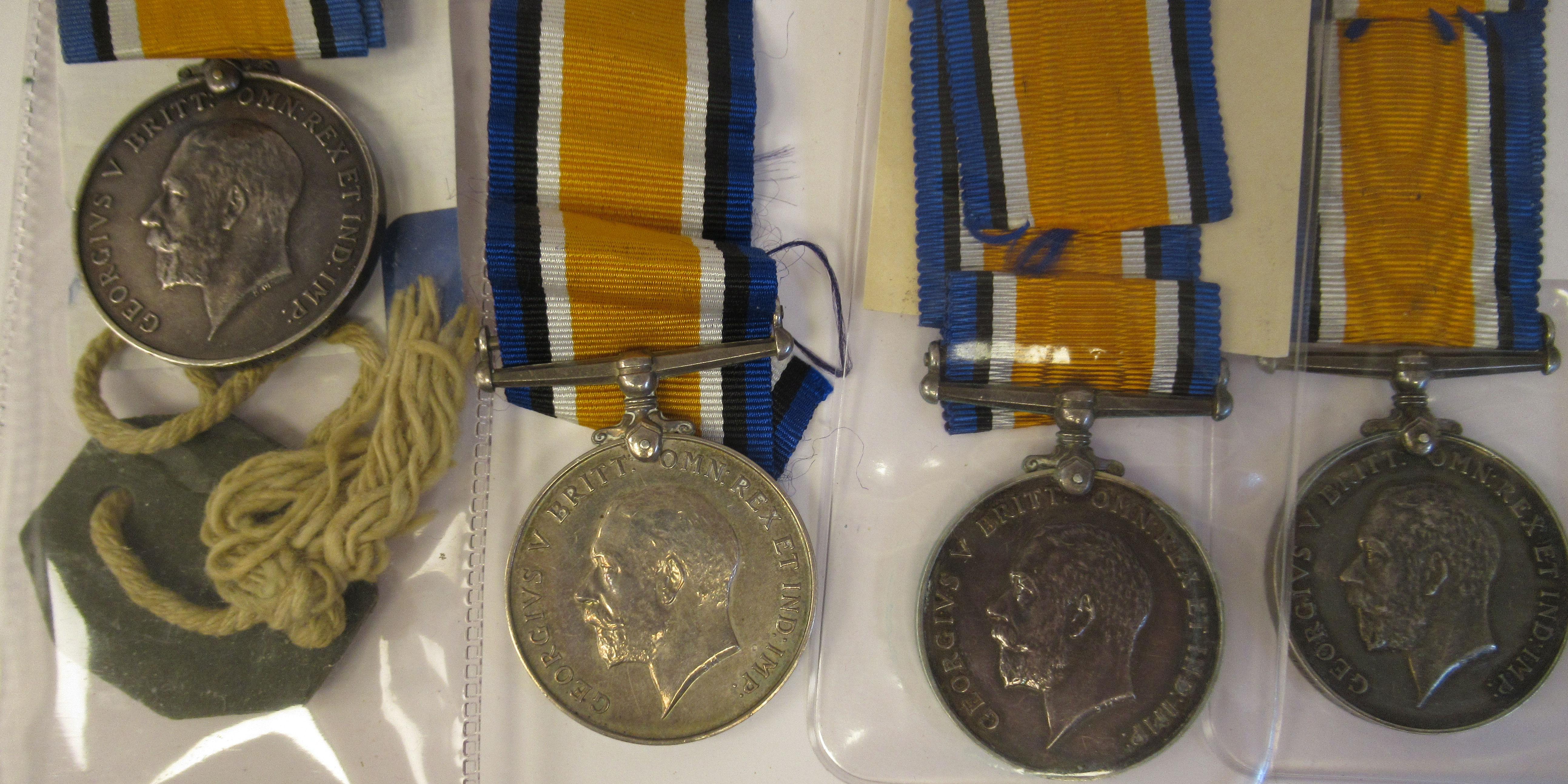 Twenty-four Great War 1914-1918 British service medals on ribbons, viz. 46481, Gnr. E. Williamson - Image 15 of 16
