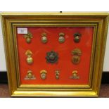 Eleven military regimental cap badges and insignia, some copies: to include Royal Dublin Fusiliers