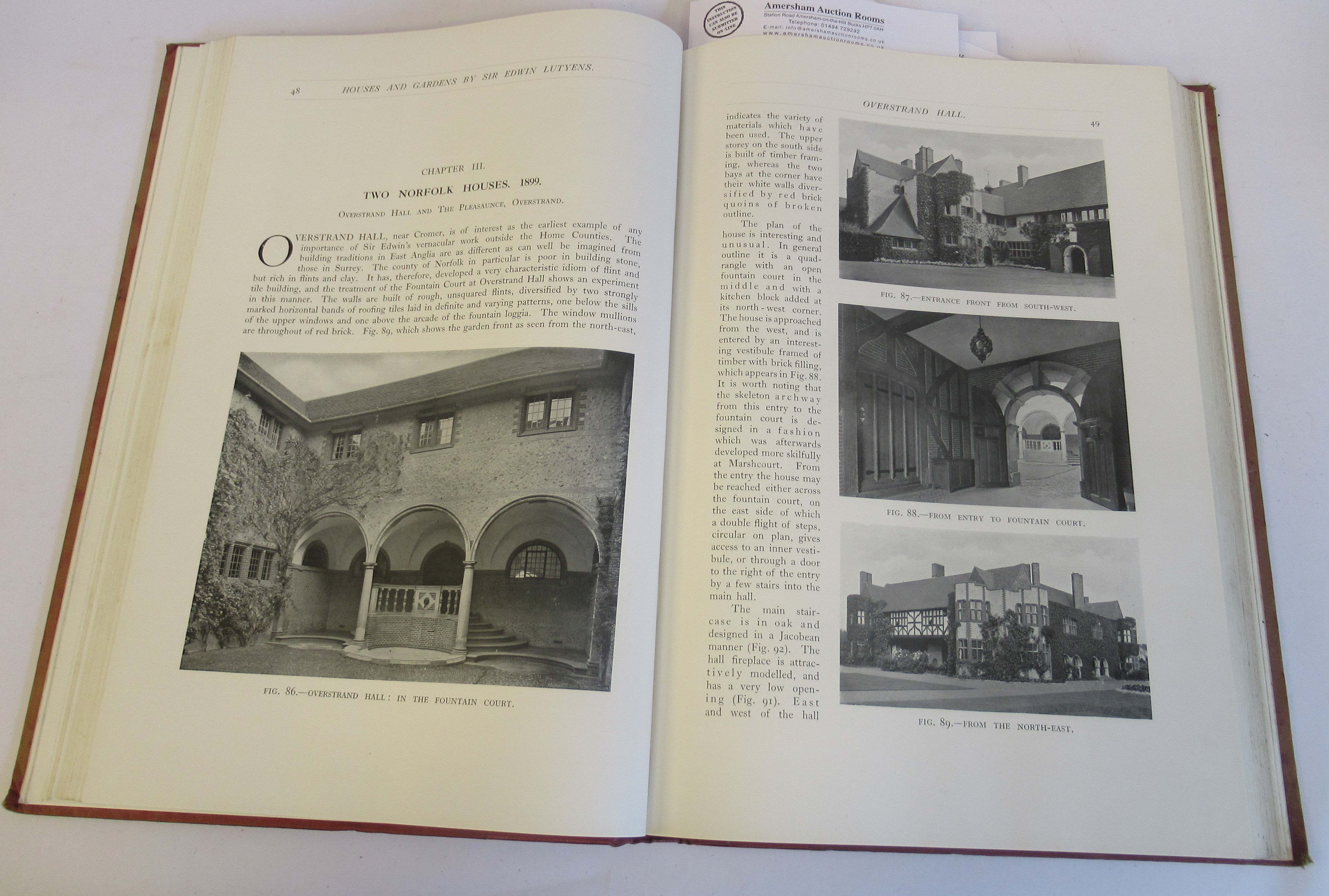 Book: 'Houses and Gardens' by Edwin Lutyens RA with numerous photographic illustrations published by - Image 3 of 7