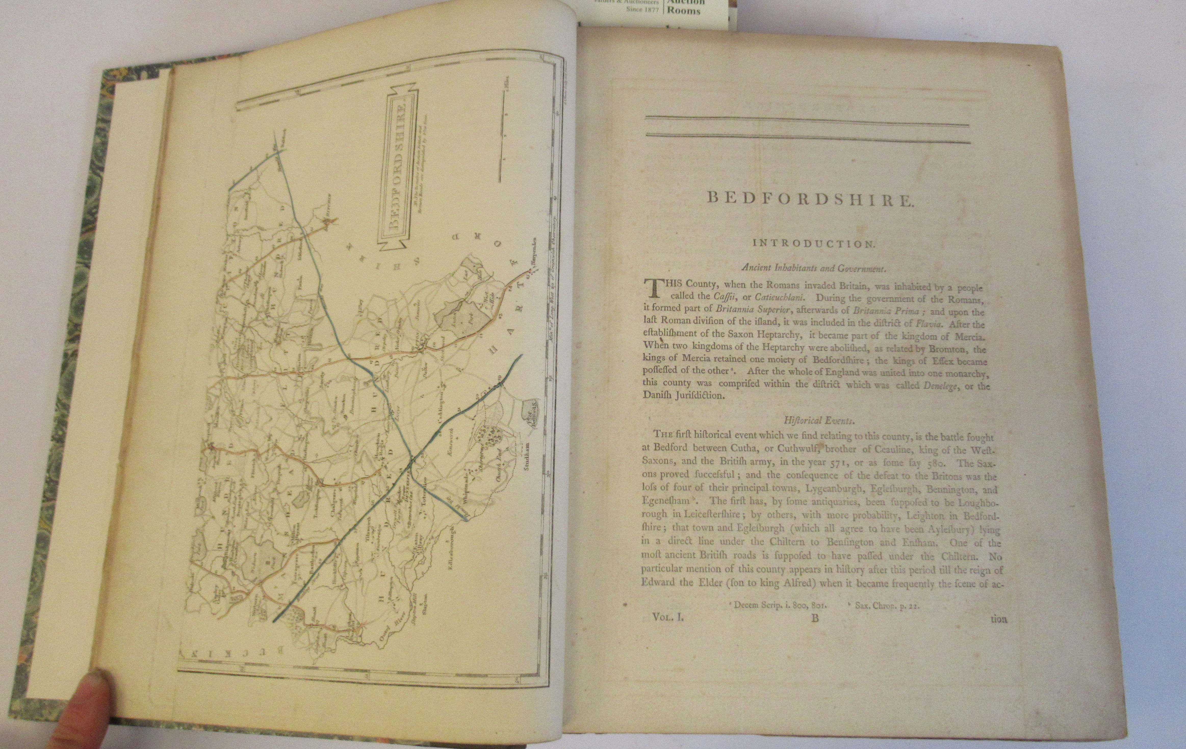 Book: 'Magna Britannia' (first volume) 'Bedfordshire & Buckinghamshire' by Danial Lysons, 44 plates, - Image 2 of 9