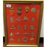 Twenty military regimental cap badges and insignia, some copies: to include 8th King's Royal Irish