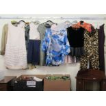 Ladies fashion accessories: to include silk tops Size M/10; shoes size 6; and handbags