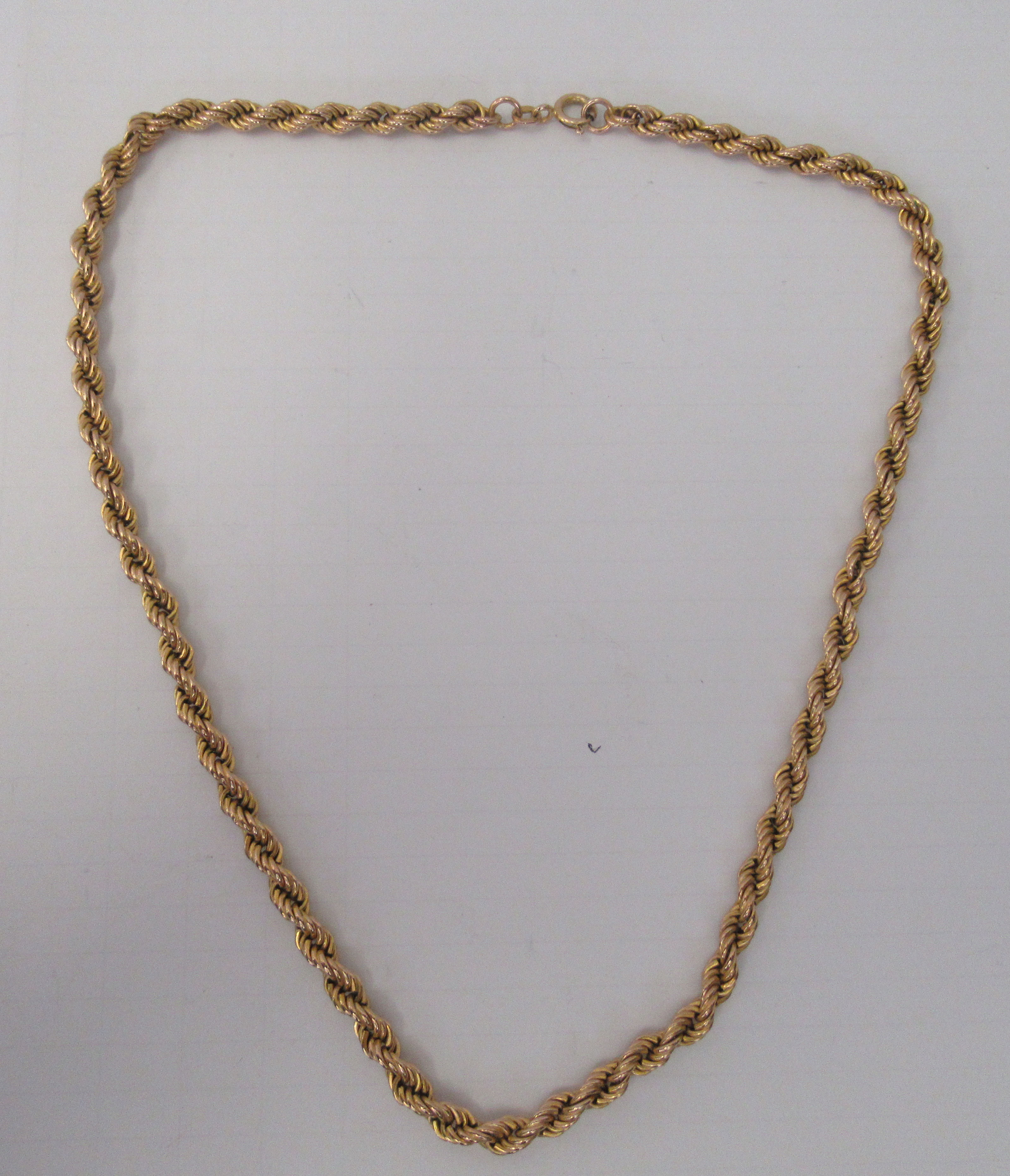 An Italian 9ct gold ropetwist design necklace