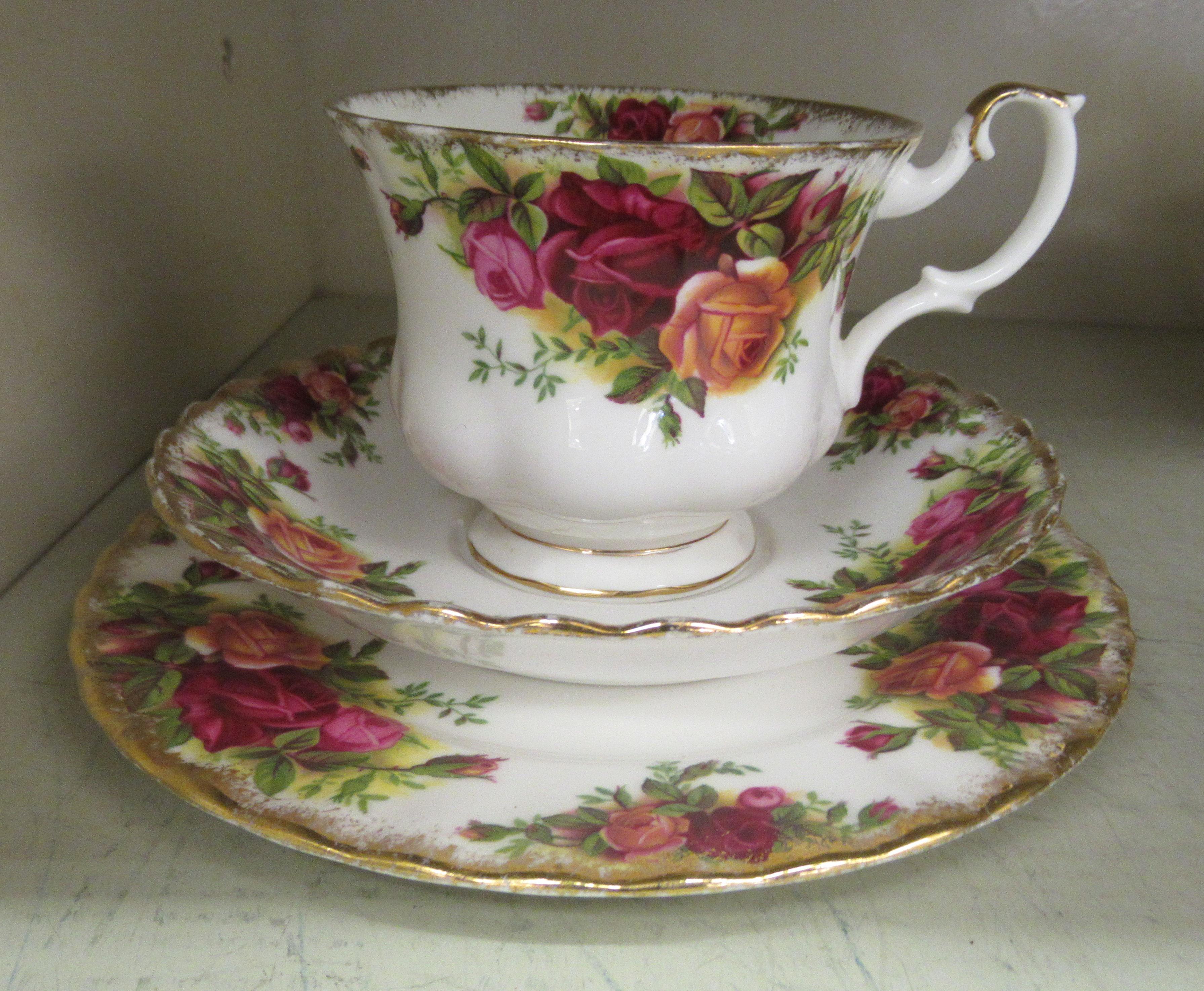 Six Royal Albert bone china Old Country Roses pattern trios - Image 2 of 3