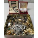Costume jewellery, watches and items of personal ornament: to include a lady's Omega automatic