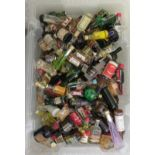 Approx. 300 spirit miniatures: to include whisky and liqueurs