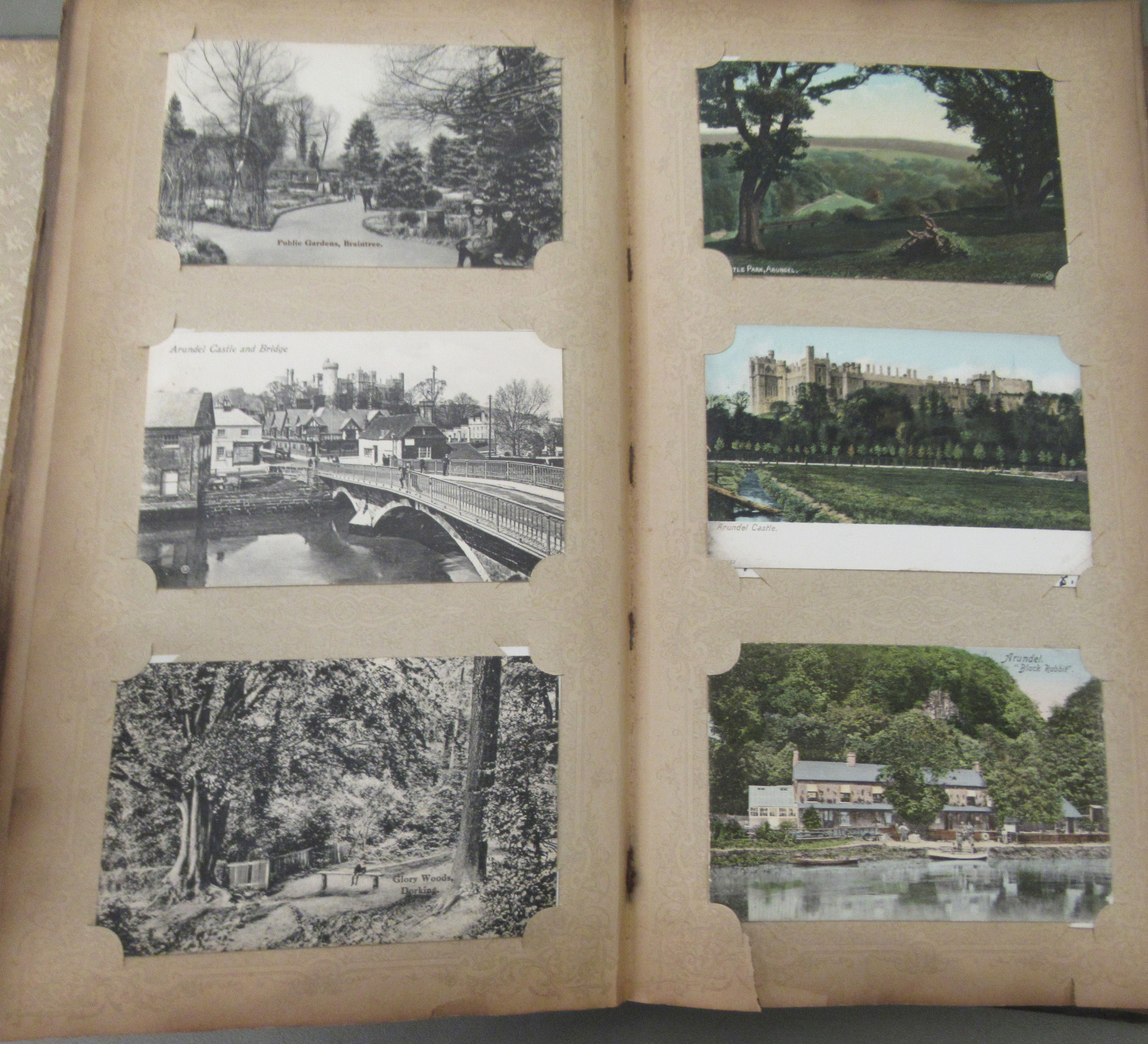 An uncollated postcard album, containing coloured and monochrome issues, church interiors and scenic - Image 5 of 7