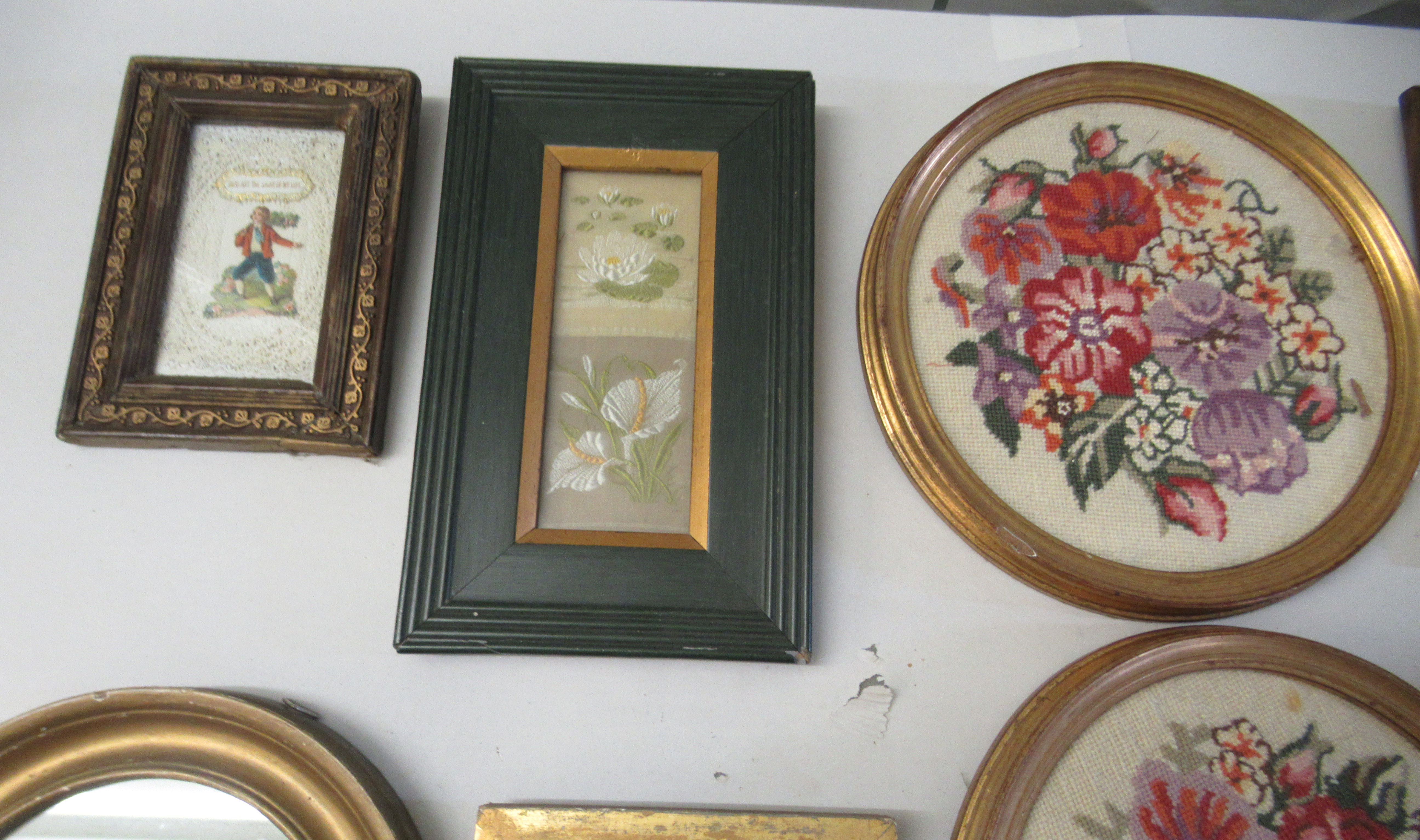 19th and 20thC embroidered tapestry panels various designs & sizes framed - Image 4 of 7