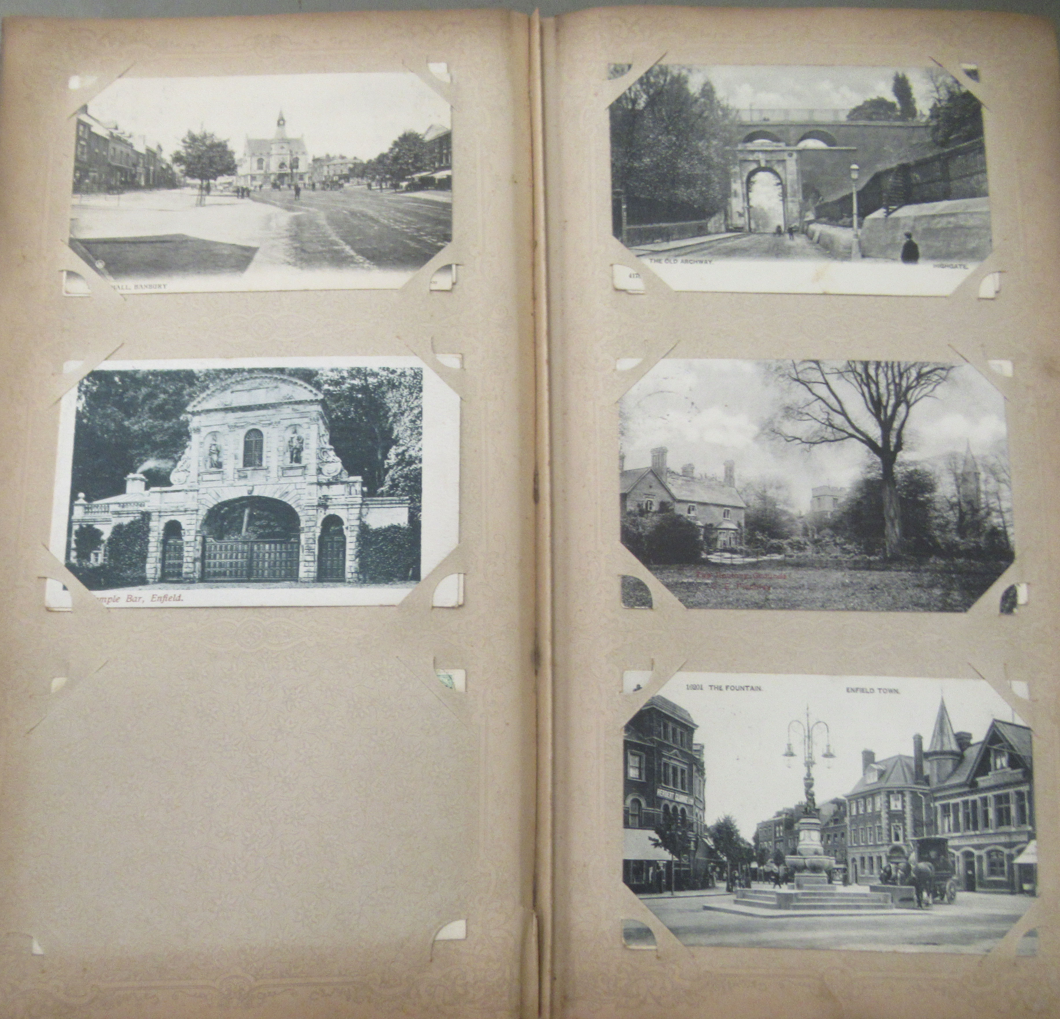 An uncollated postcard album, containing coloured and monochrome issues, church interiors and scenic - Image 2 of 7