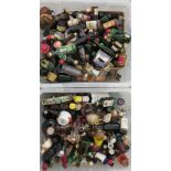 Approx. 300 spirit miniatures: to include whiskey and liqueurs