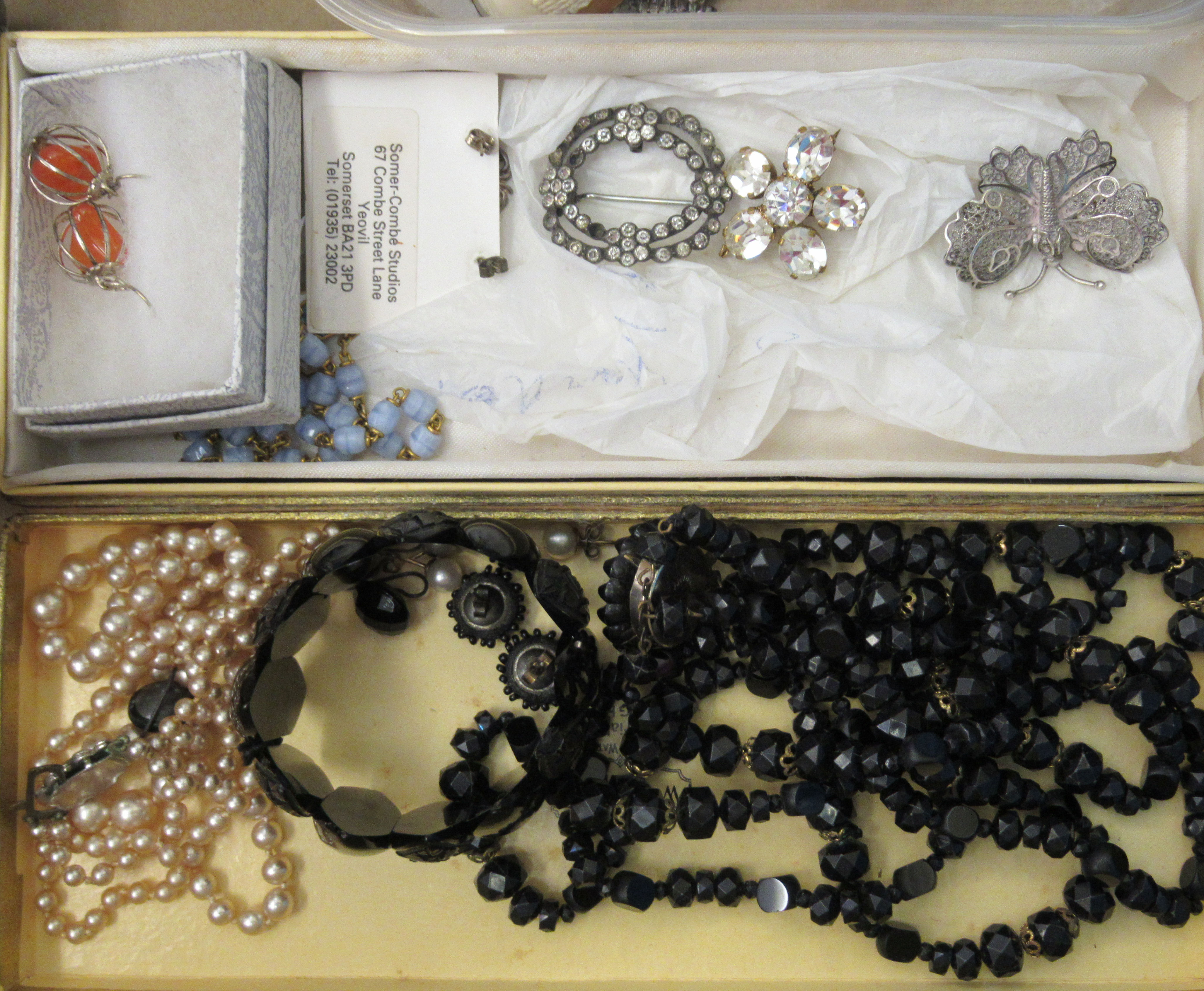 Edwardian and later items of personal ornament: to include pearl necklaces; two 9ct gold rings; - Image 3 of 5