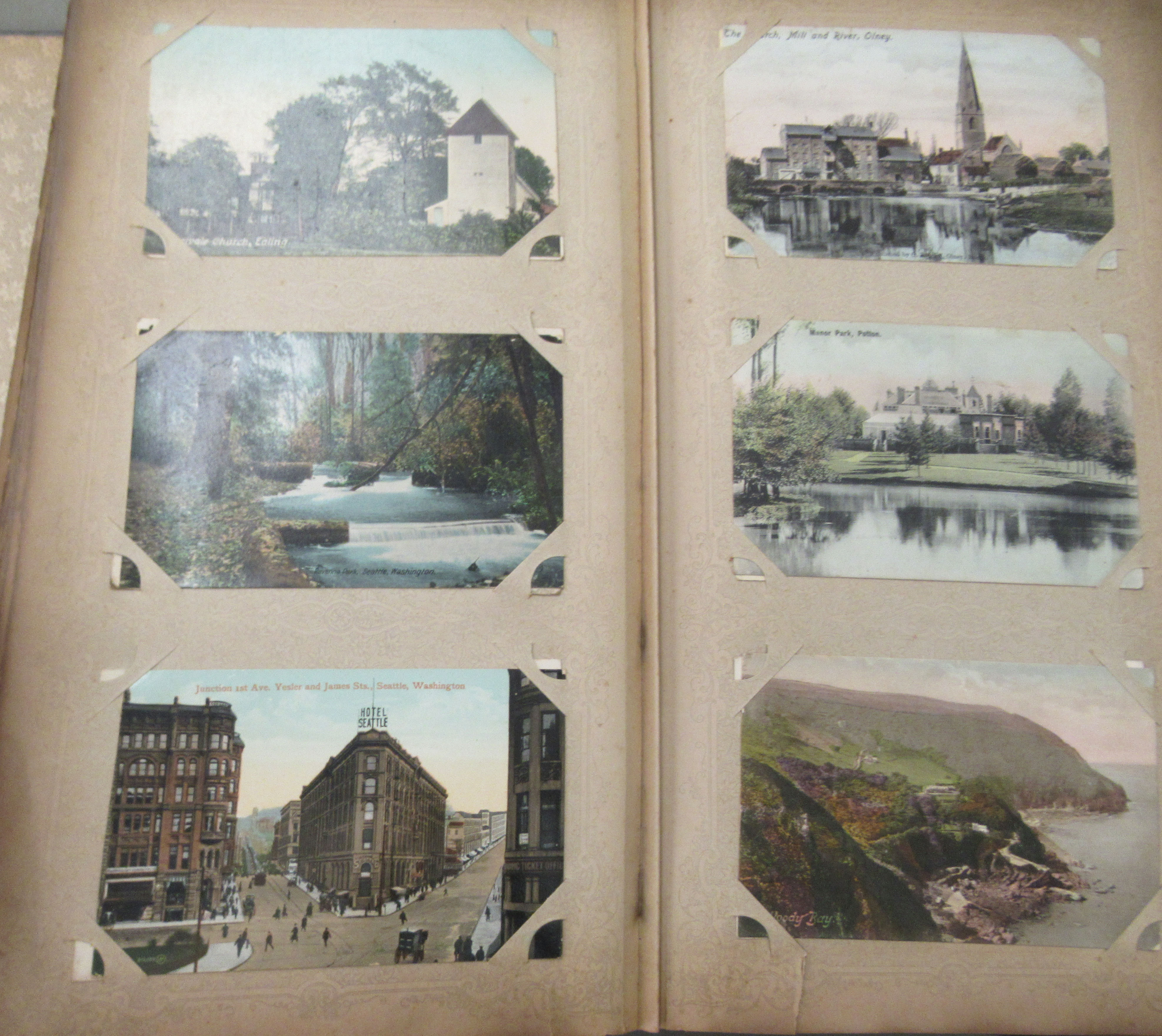 An uncollated postcard album, containing coloured and monochrome issues, church interiors and scenic - Image 3 of 7