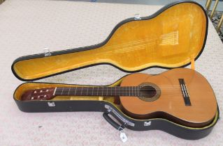 A Japanese made Cimar accoustic guitar, model no.362 bears a label cased