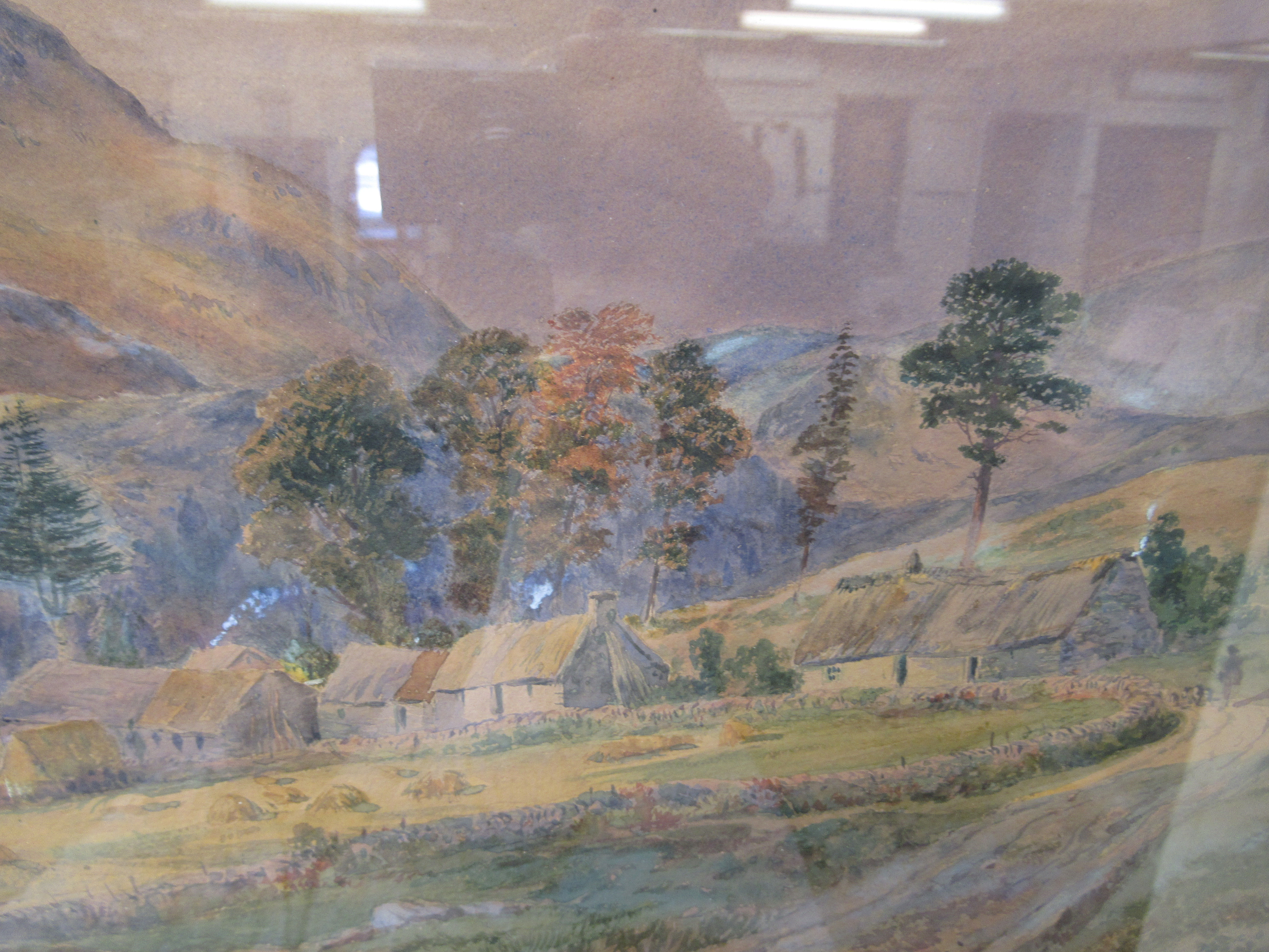 """WW Fenn - a landscape with cottage and hills beyond watercolour bears a signature 19.5"""" x 12"""" - Image 4 of 4"""