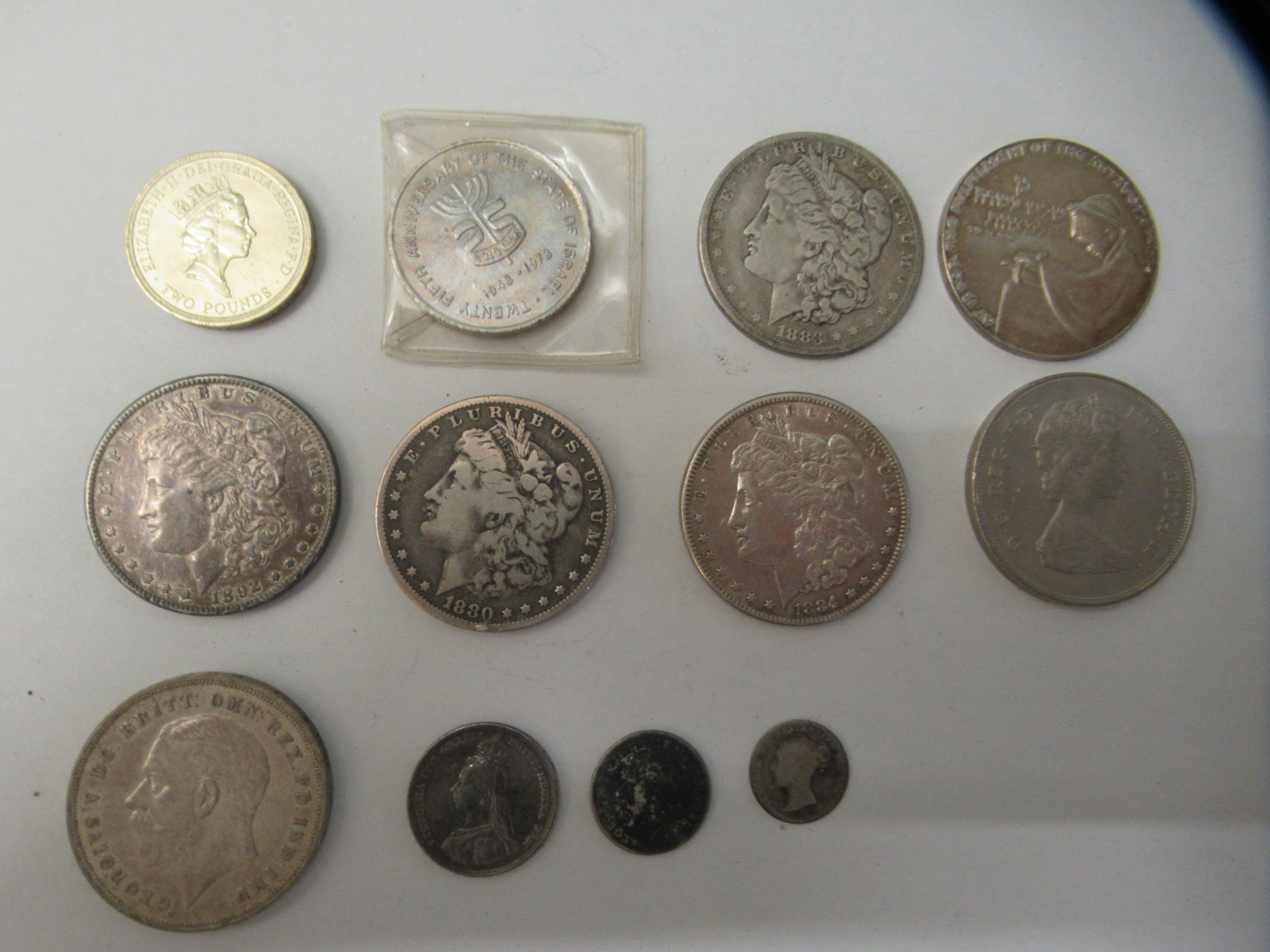 British pre-decimal and foreign coins: to include an 1883 USA one dollar - Image 2 of 7