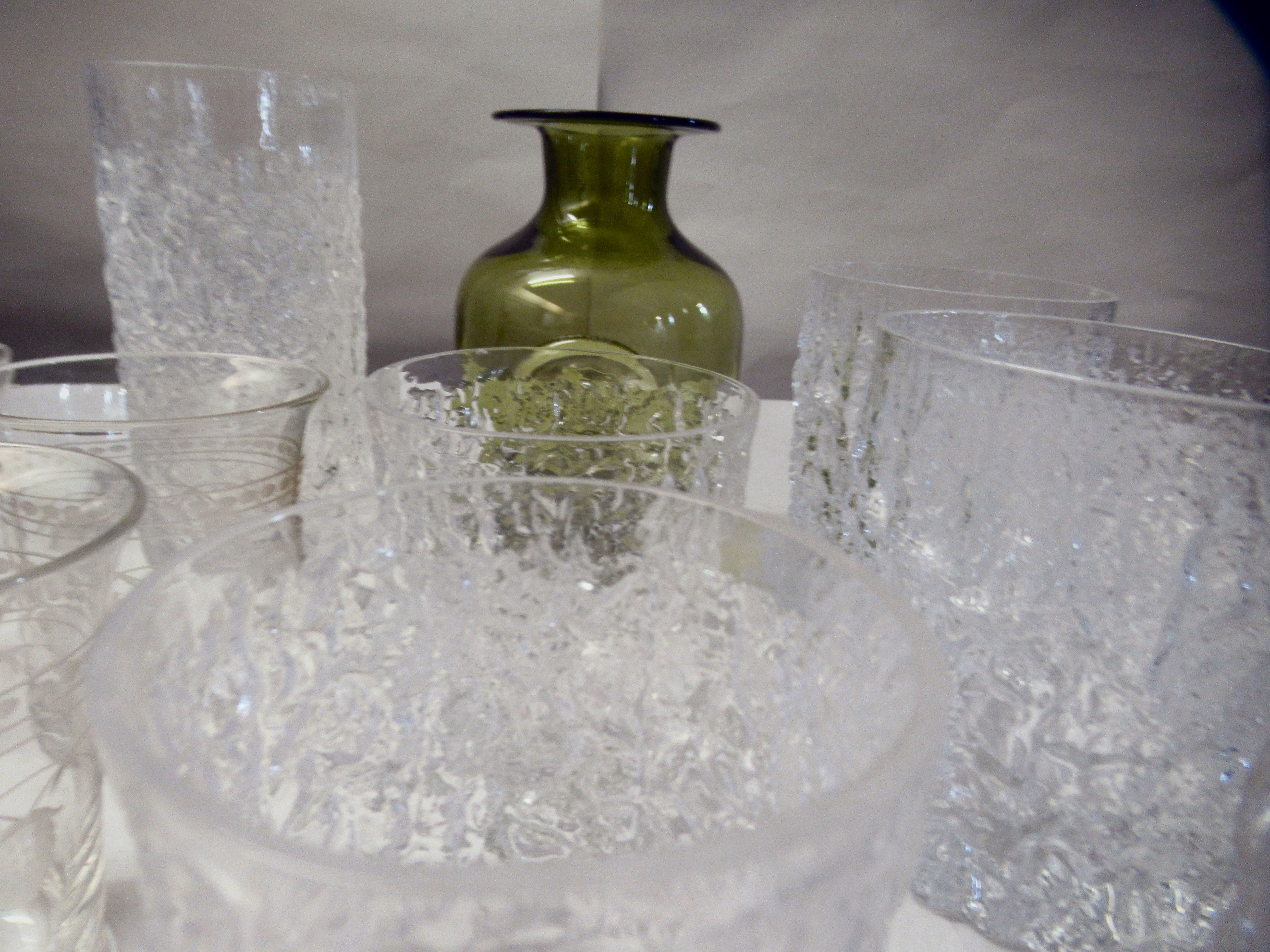 Bark effect Whitefriars cordial and other drinking glasses - Image 3 of 6