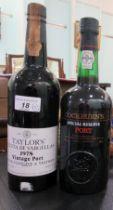 A bottle of Taylor's 1978 vintage port; and another bottle of Cockburn's port