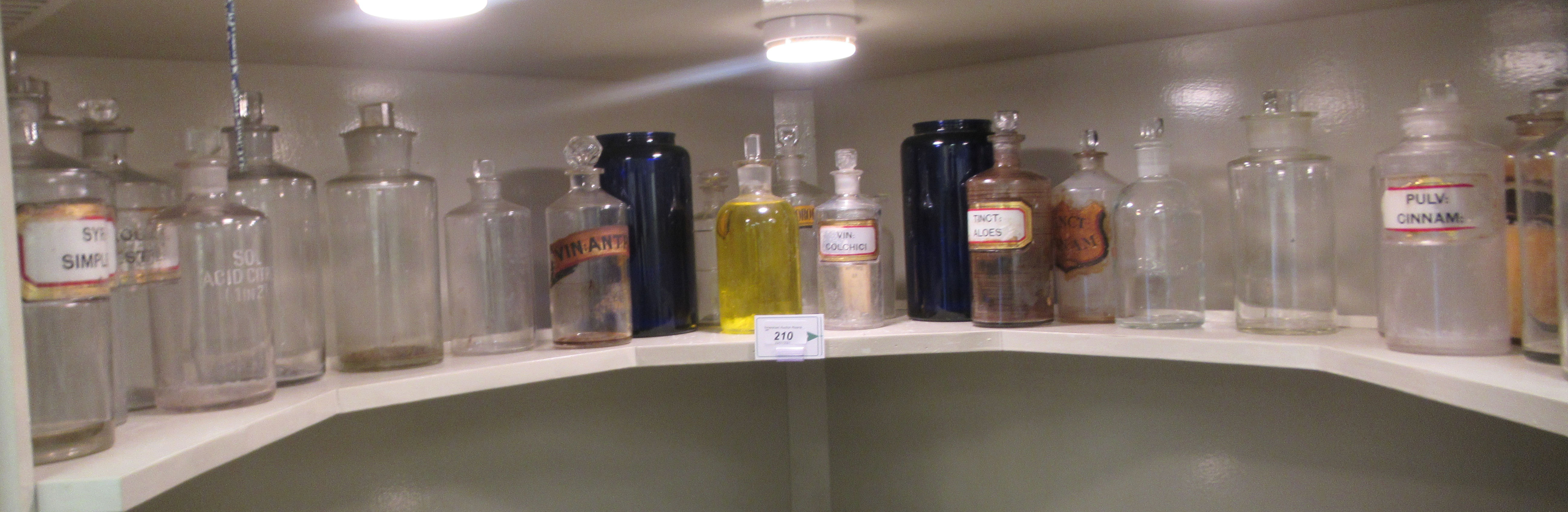 """Apothecary jars, various designs and sizes: to include 'Cinnam' 8""""h"""