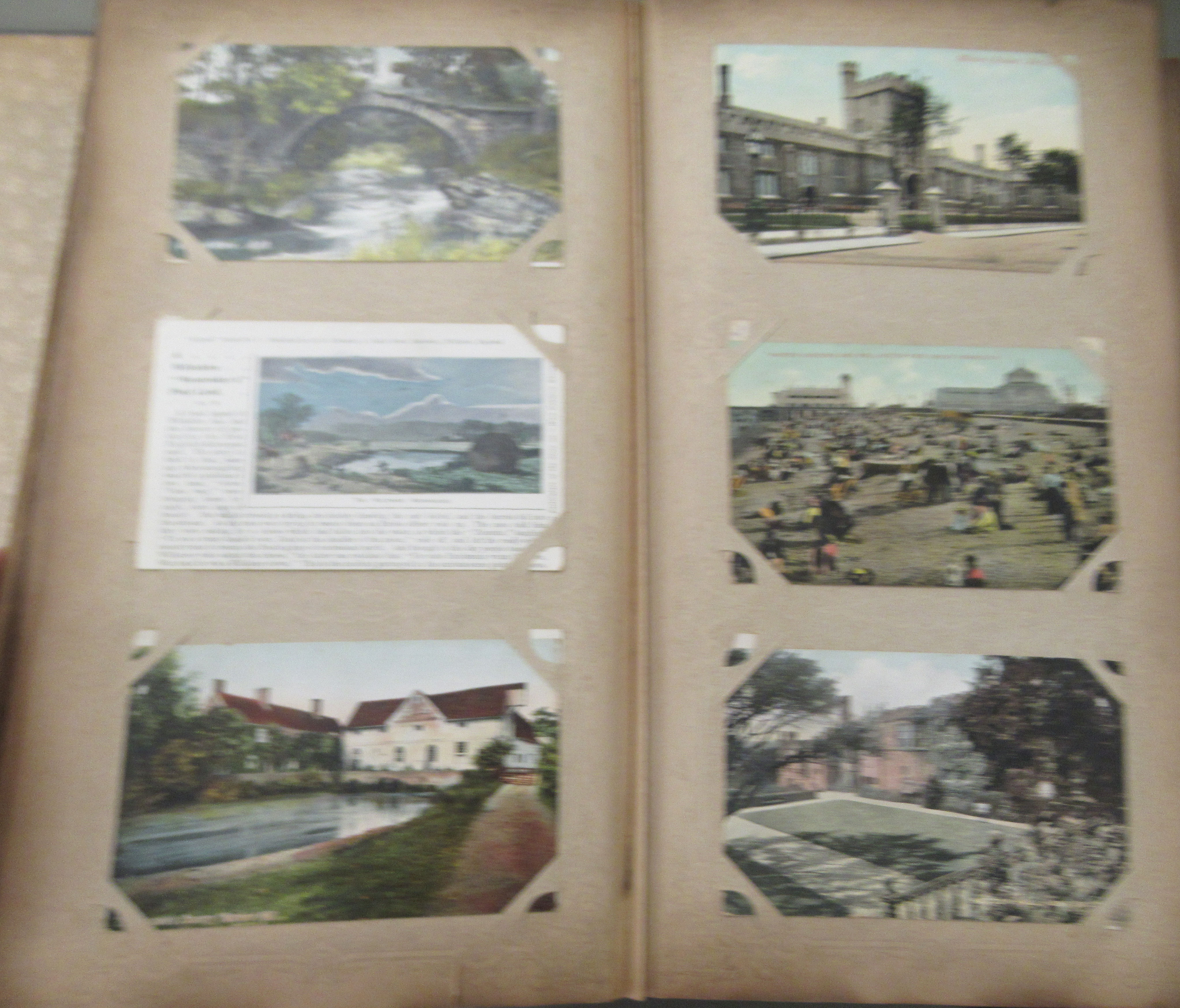 An uncollated postcard album, containing coloured and monochrome issues, church interiors and scenic - Image 4 of 7