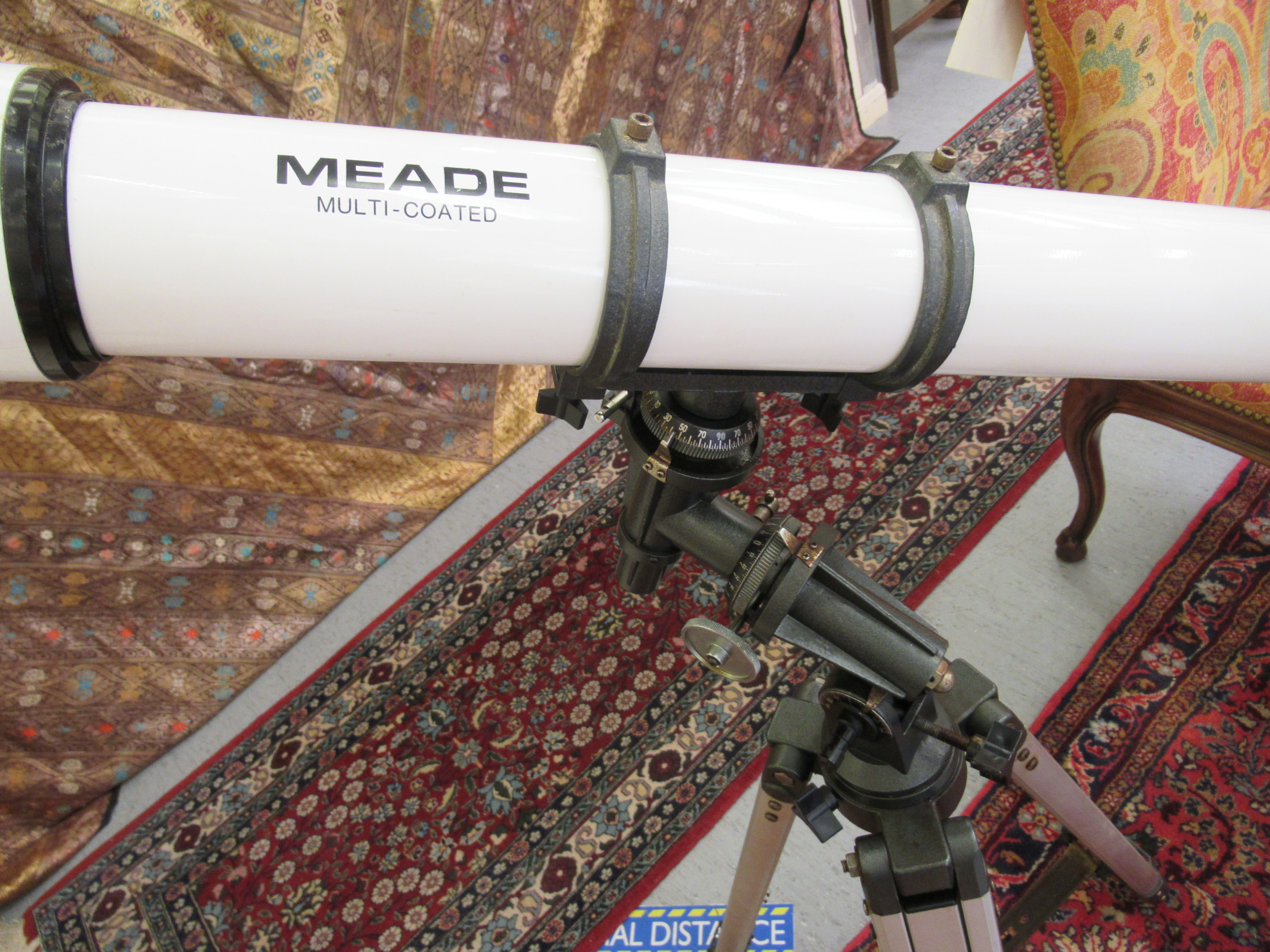 """A Meade telescope with a 6x30mm lens 41""""L, on a tripod stand 38""""h - Image 2 of 3"""