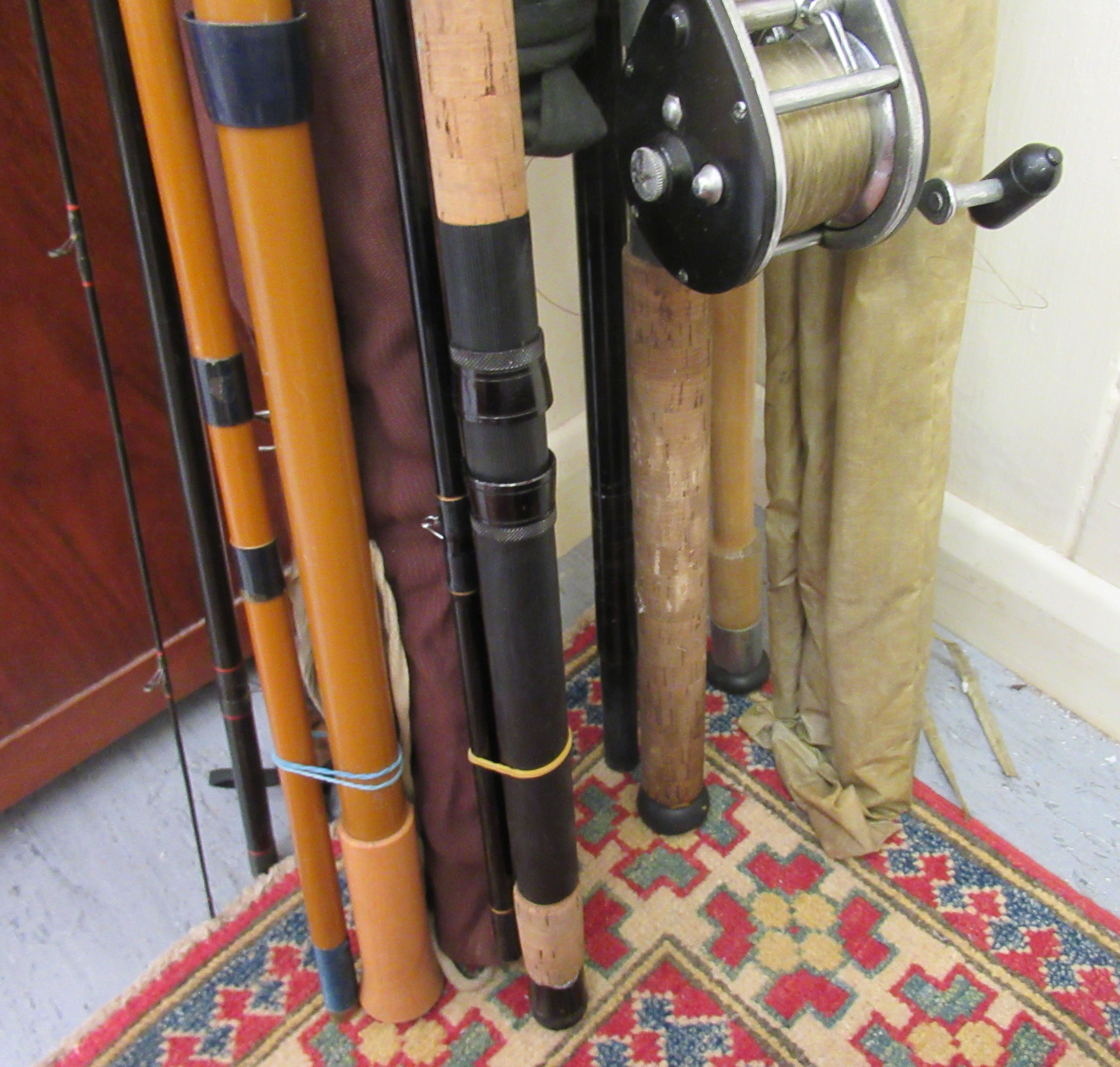 Angling equipment: to include a Hermes Vortex IGFA 30116 Class rod; and another Graphite example - Image 2 of 5