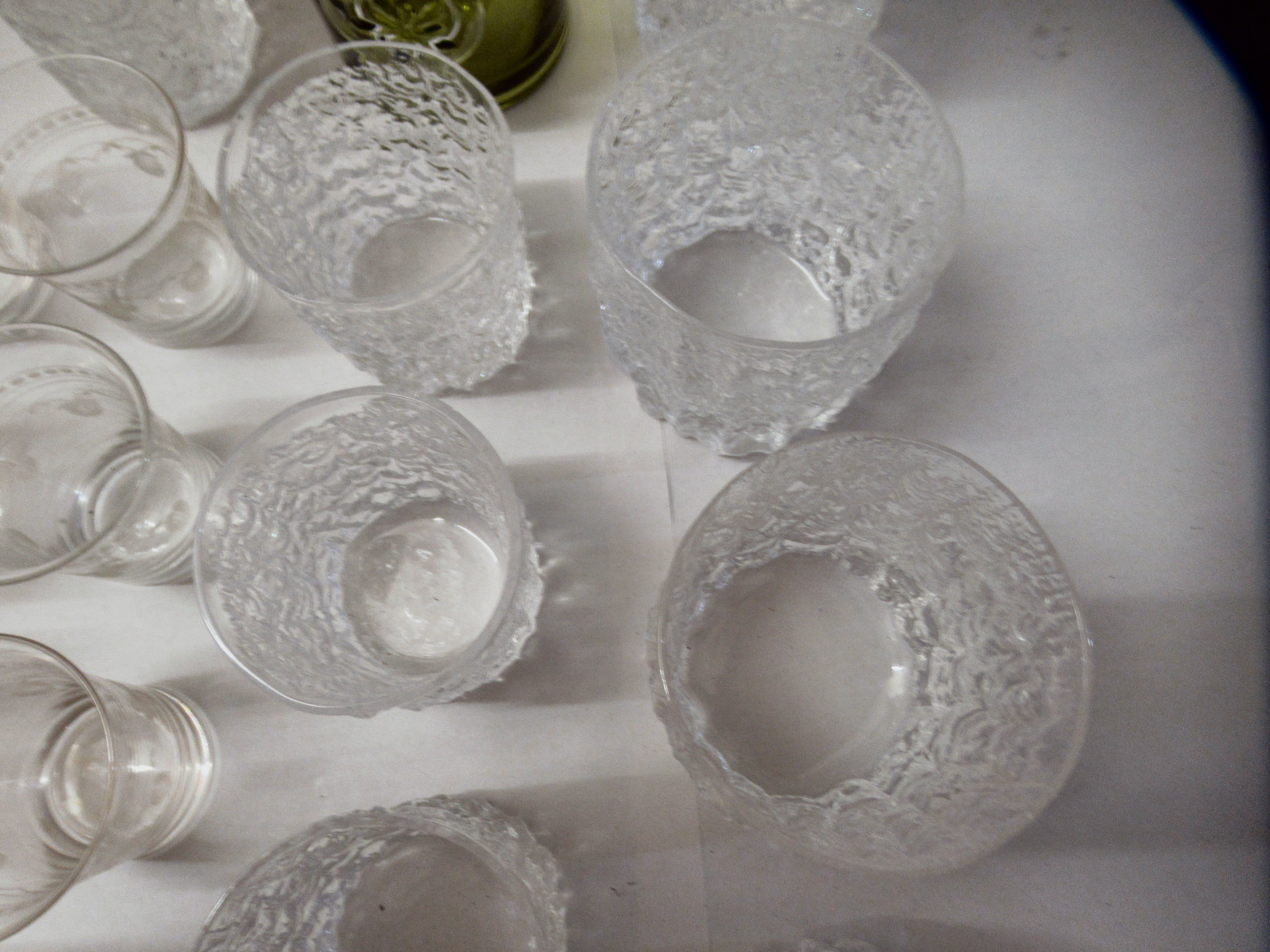 Bark effect Whitefriars cordial and other drinking glasses - Image 4 of 6
