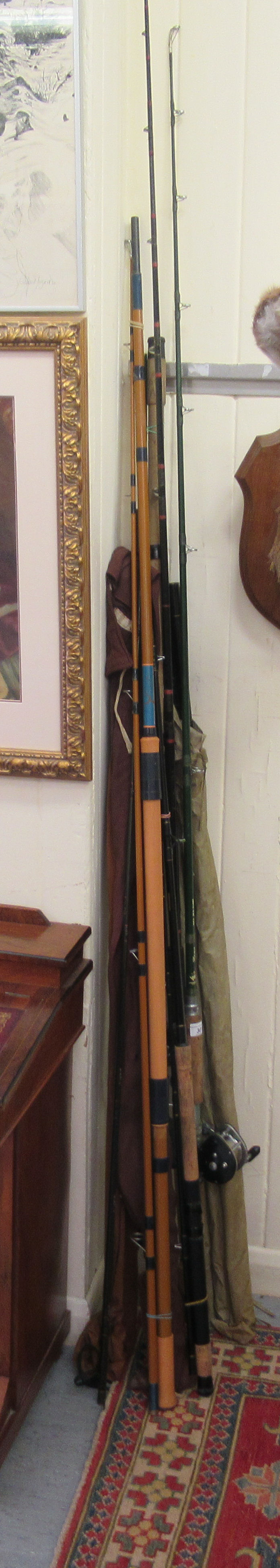 Angling equipment: to include a Hermes Vortex IGFA 30116 Class rod; and another Graphite example