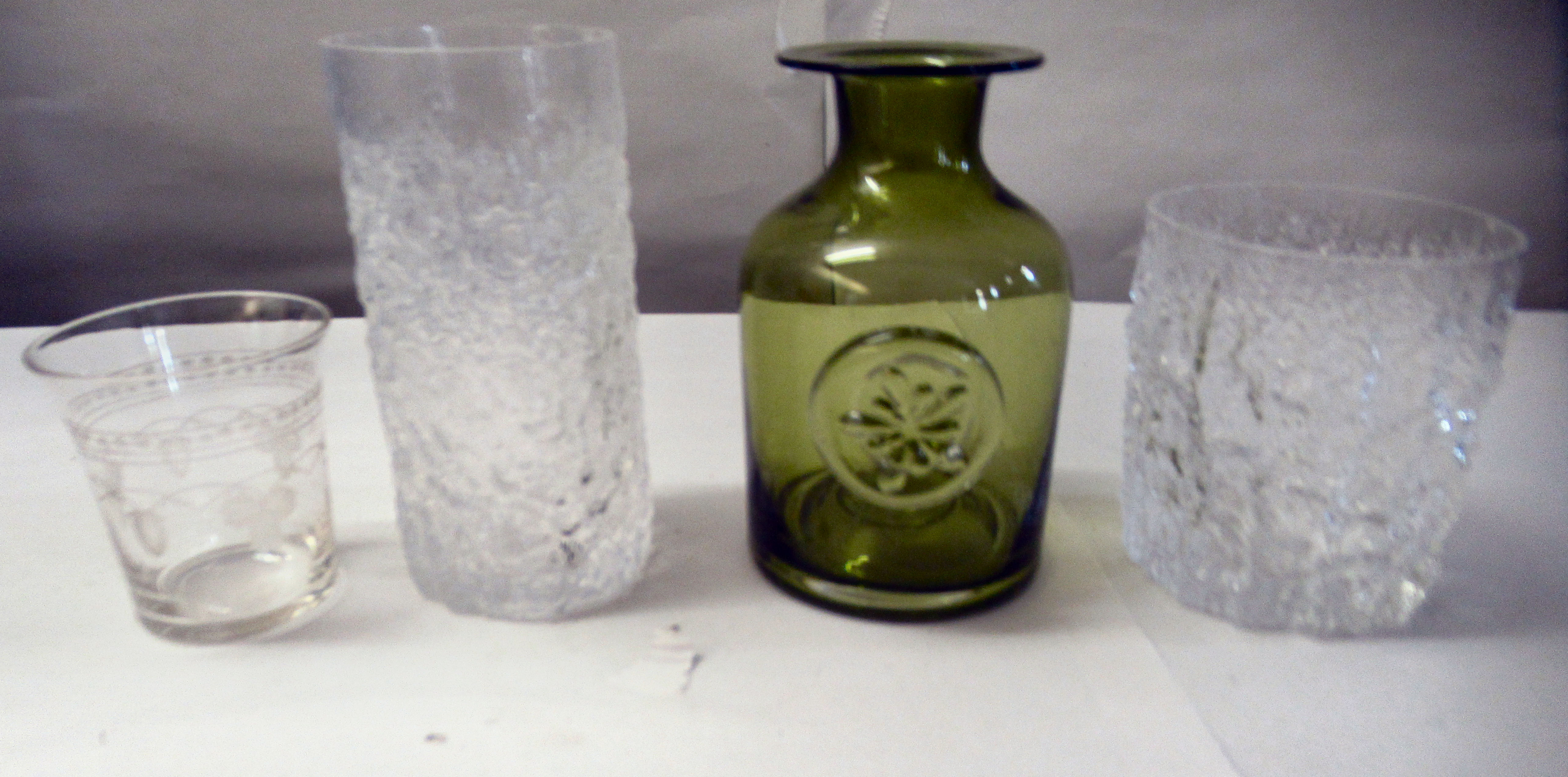 Bark effect Whitefriars cordial and other drinking glasses - Image 6 of 6