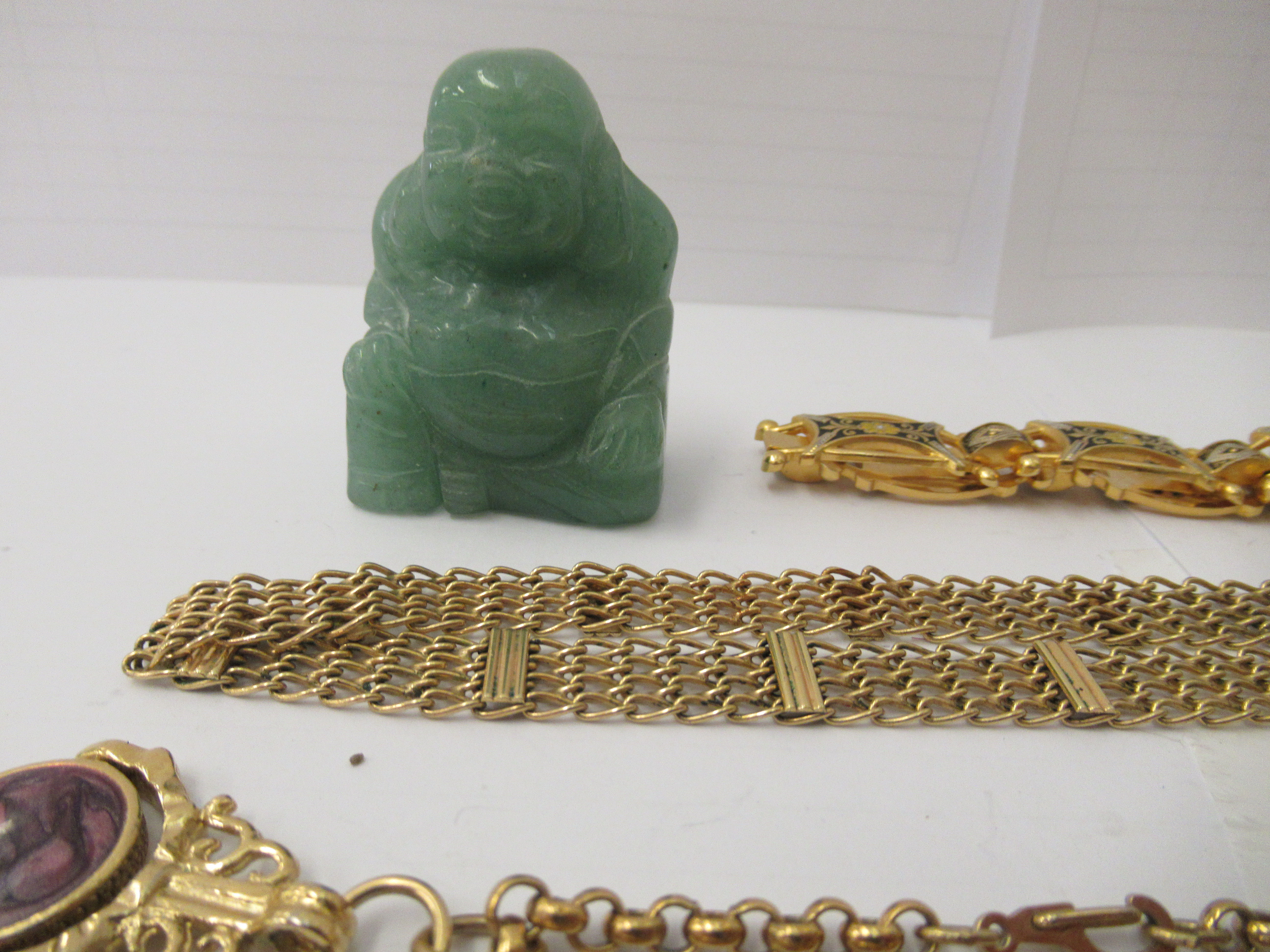 Personal ornament and collectables: to include a silver hinged bangle; and a yellow metal fob watch - Image 2 of 5