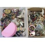 Costume jewellery: to include bangles, loose and string beads, faux pearls and earrings