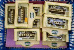 Ten Lledo diecast model vehicles, vintage transport boxed