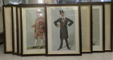 """A series of eight late 19thC Vanity Fair Spy prints published by Vincent Brookes 13"""" x 7.5"""""""