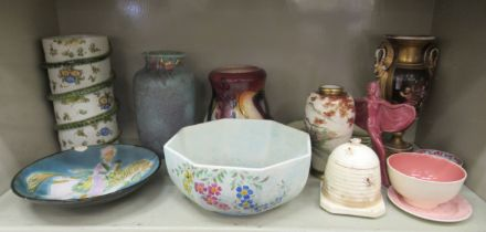 19thC and 20thC decorative ceramics: to include studio pottery vases various sizes; an Italian