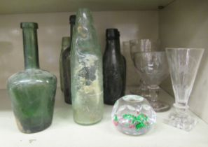 Glassware: to include an early 20thC goblet, etched with a shooting scene