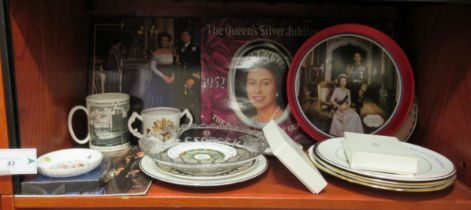 """British Royal commemorative collectables: to include a Charles and Diana plate 10""""dia"""