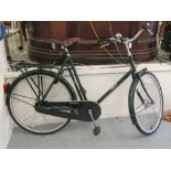 A gentleman's Pashley Prospero bicycle, in British racing green livery with a Brooks moulded hide