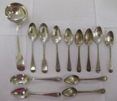 19th & 20thC silver flatware, mainly teaspoons mixed marks