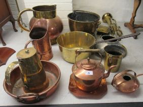 19thC and 20thC metalware, mainly copper kitchenware