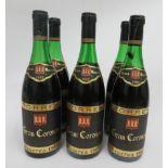Wine, six bottles of 1982 Torres Gran Coronas
