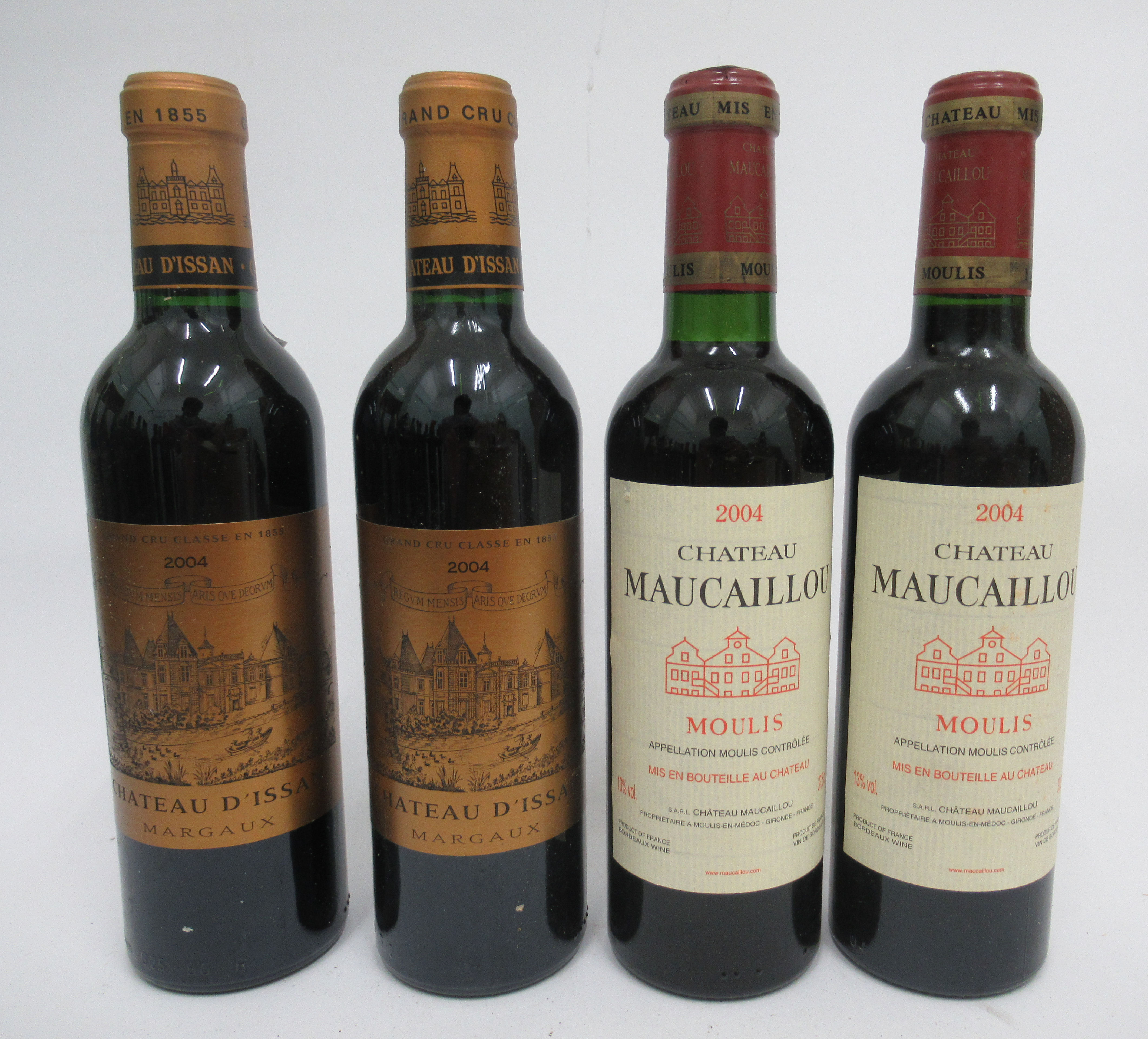 Wine, eight half bottles, viz. two 2004 Chateau D'Issan; two 1999 Chateau Potensac; two2004 - Image 2 of 4