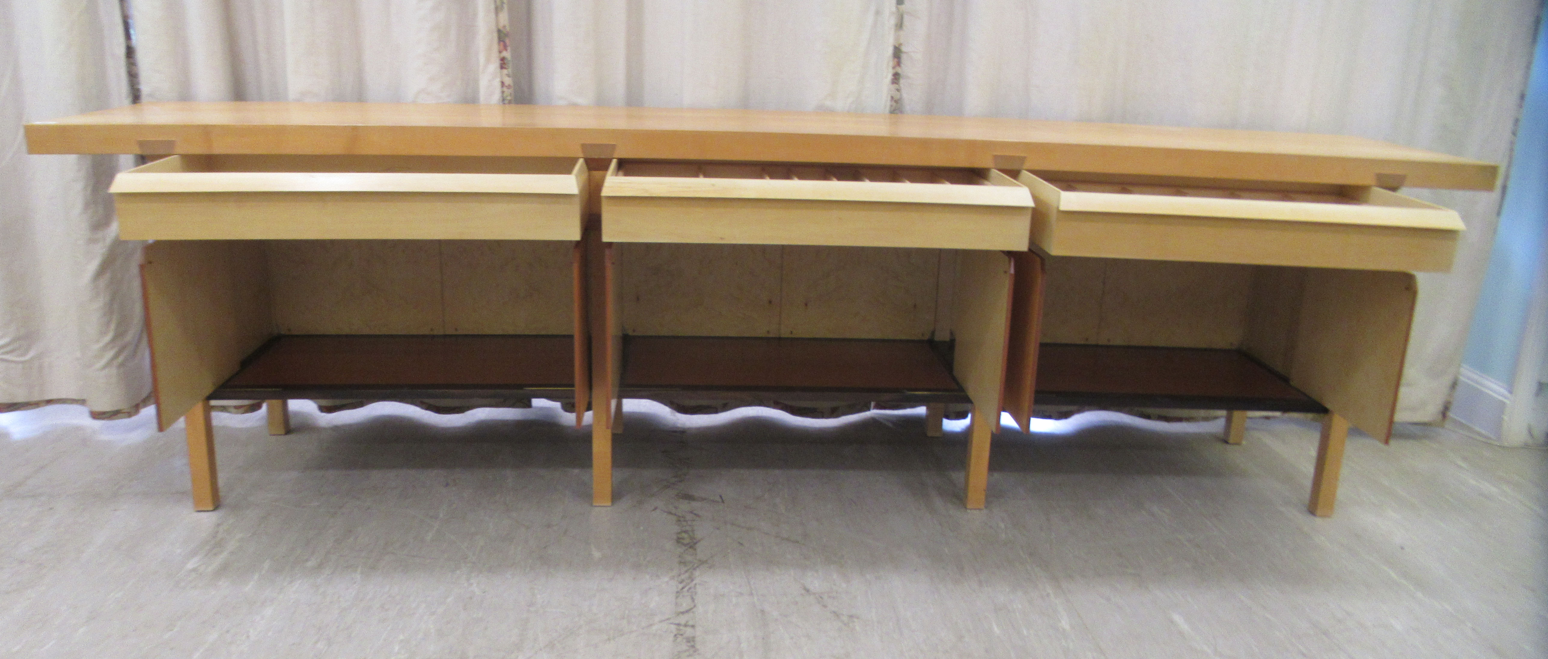 A 1960sJohn Makepeace OBE sideboard, constructed in sycamore, Andaman padauk and holly, - Image 8 of 12