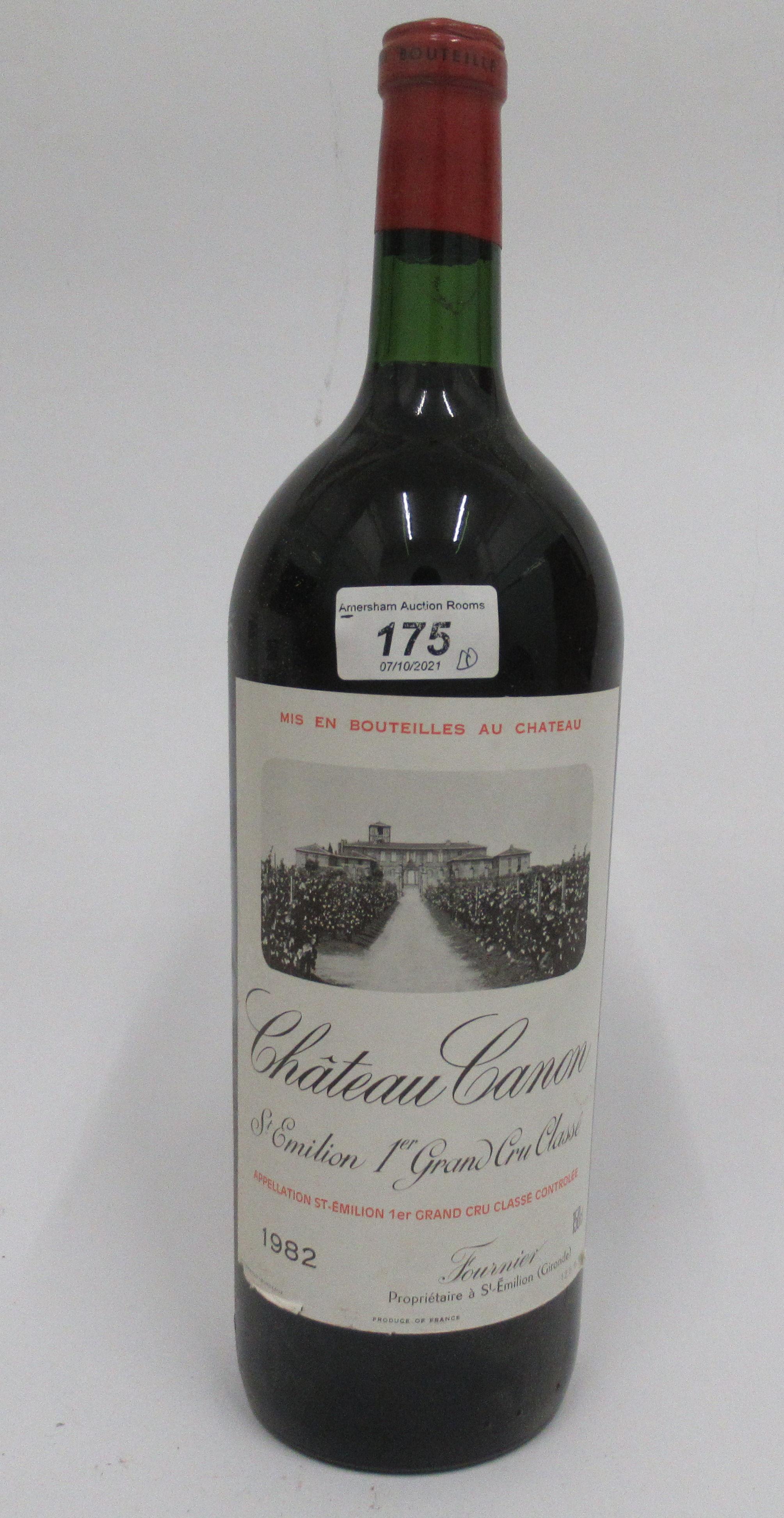 Wine, a magnum of 1982 Chateau Canon Grand Cru