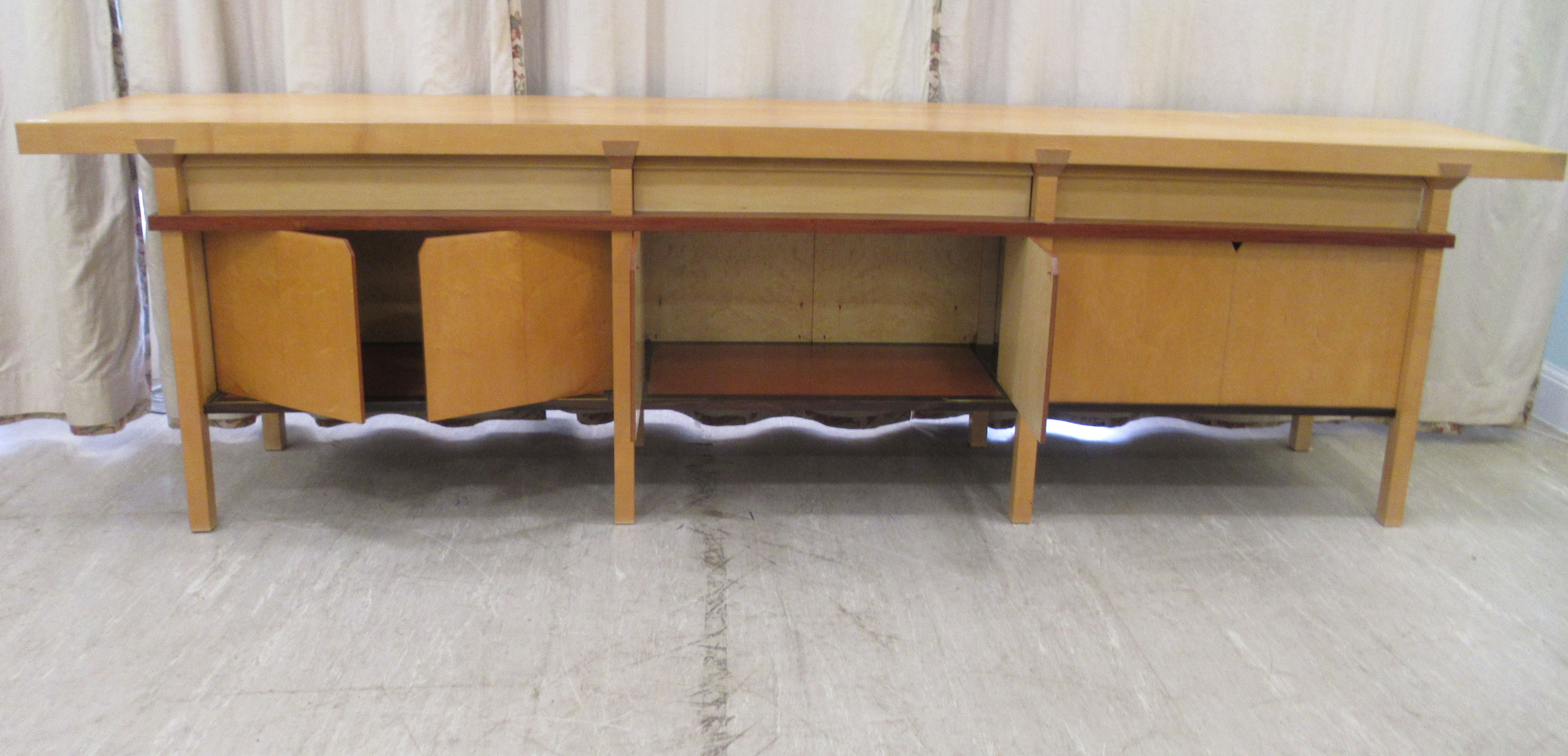 A 1960sJohn Makepeace OBE sideboard, constructed in sycamore, Andaman padauk and holly, - Image 9 of 12
