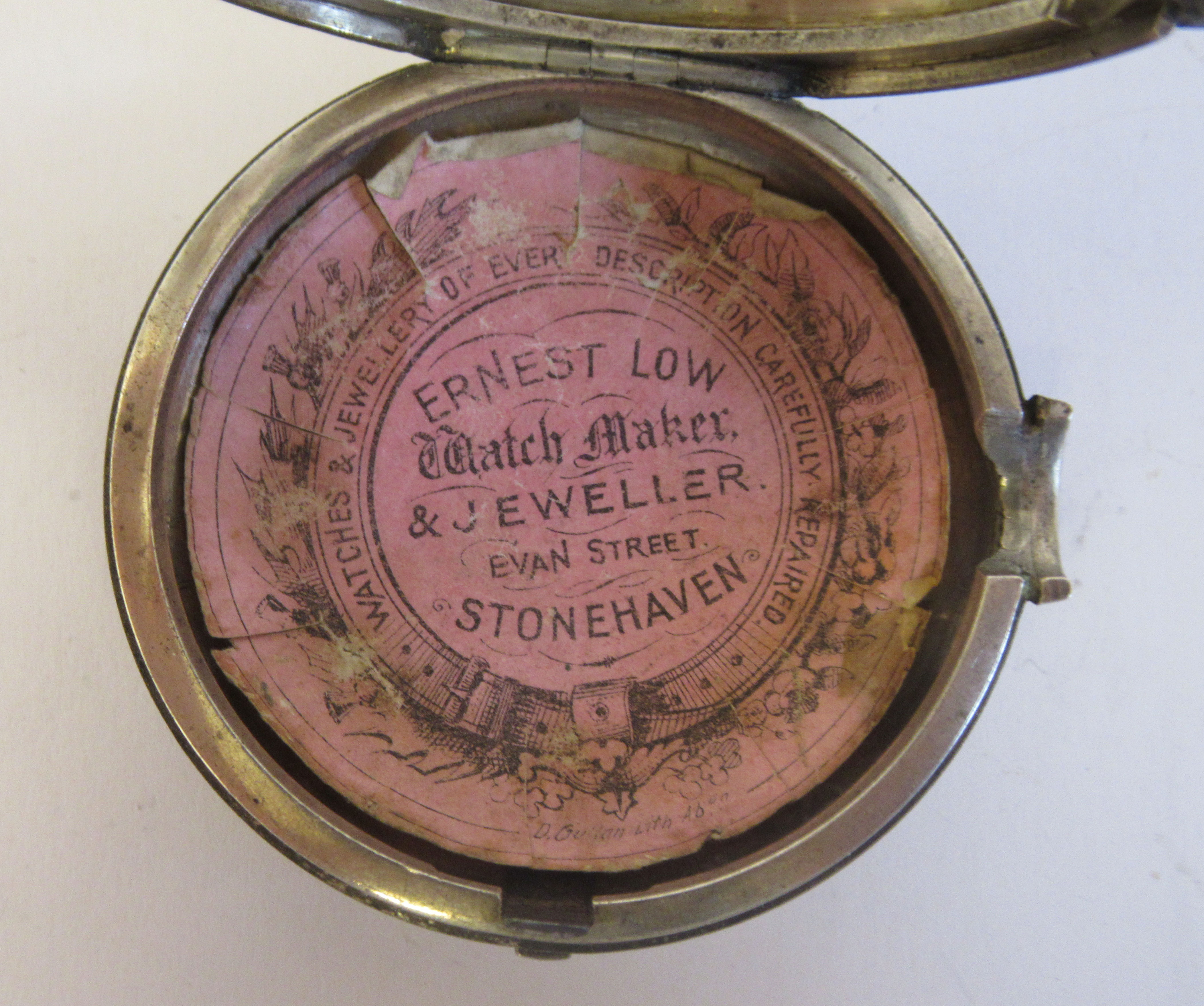 A mid 18thC silver pair cased pocket watch, the fusee movement faced by a white enamel Roman dial, - Image 7 of 7