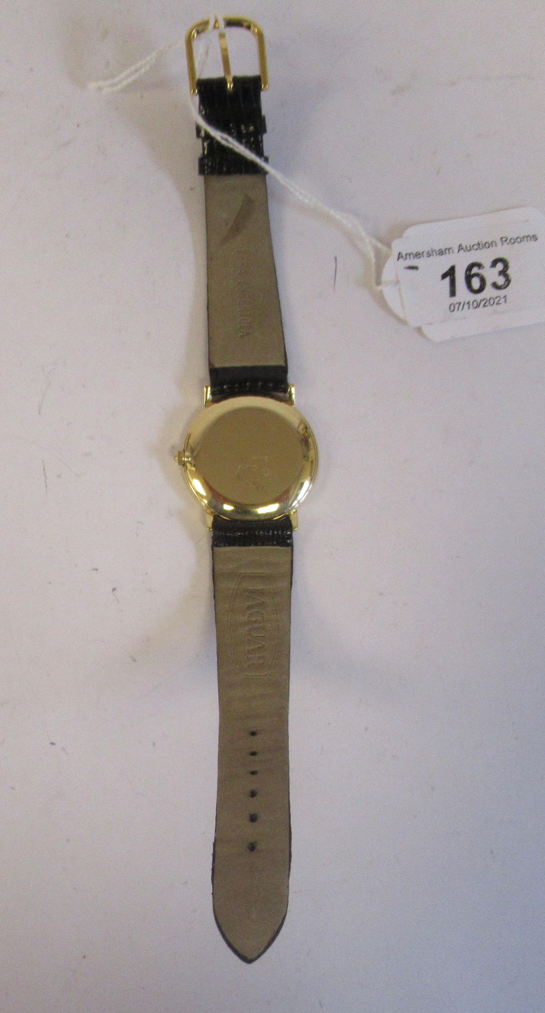A 1980s Jaguar 18ct gold cased model J505CH quartz wristwatch (cal ETA 955-54) faced by a baton - Image 5 of 6