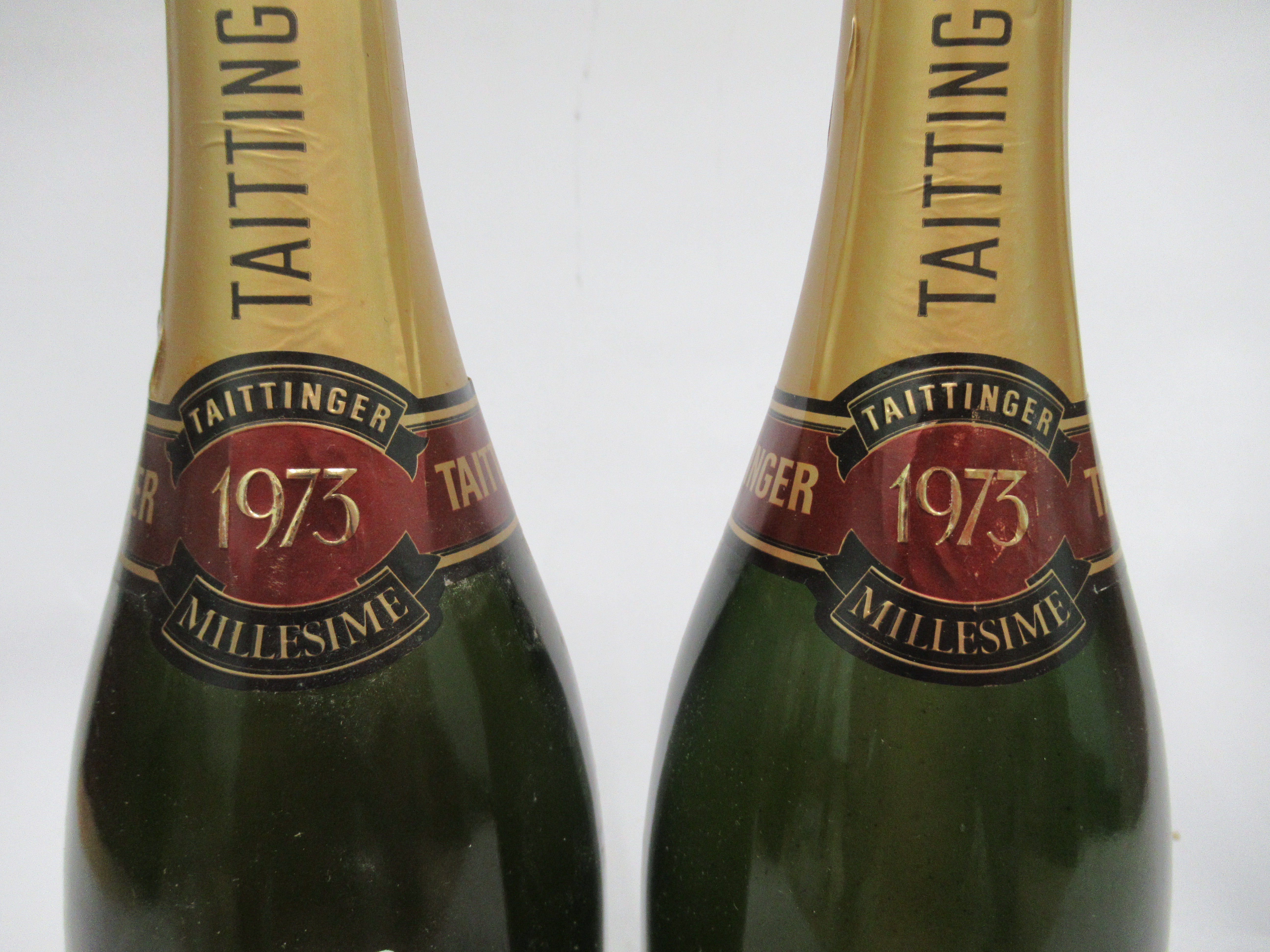 Wine, two bottles of 1973 Taittinger Millesime Champagne - Image 2 of 3