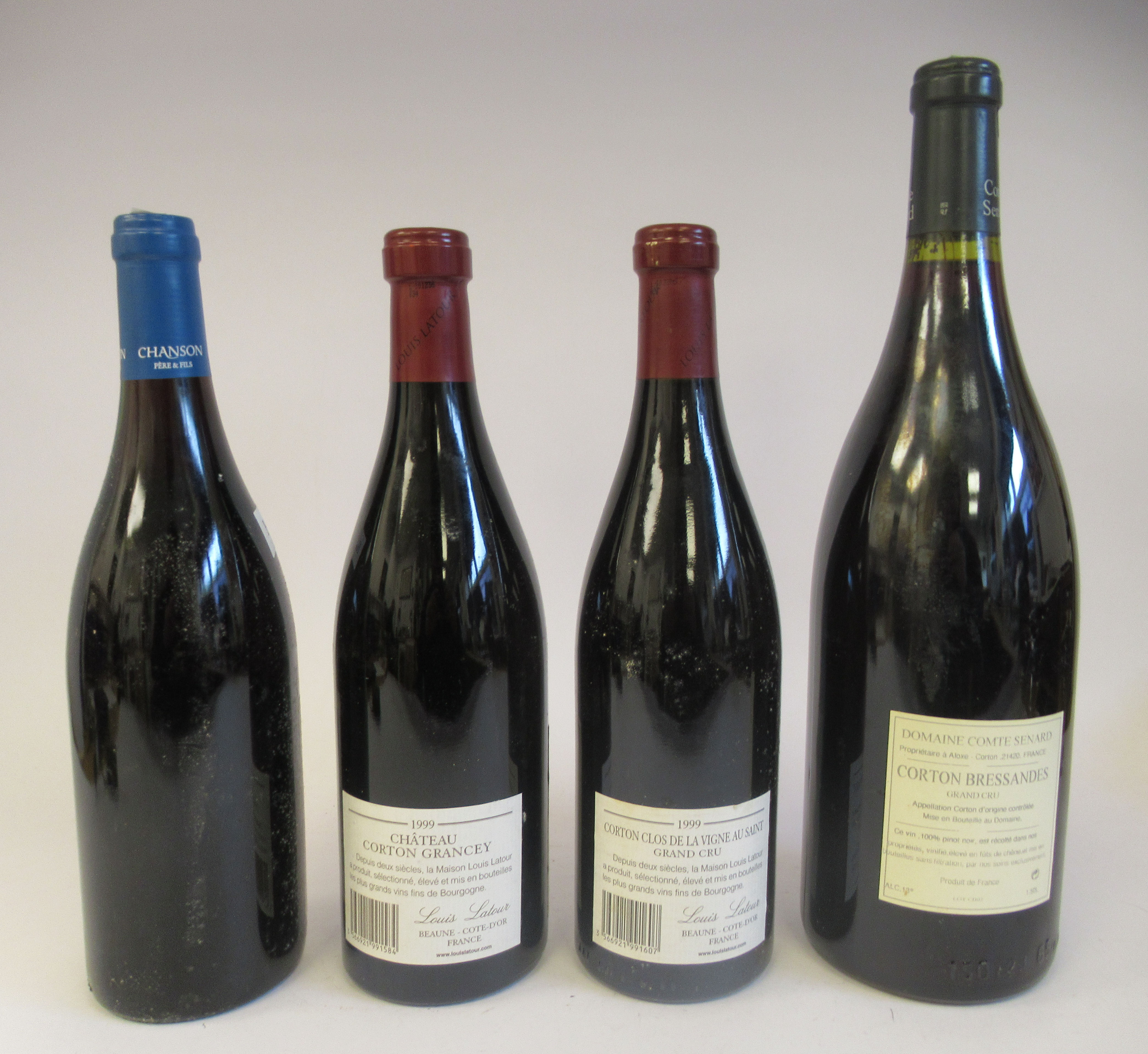 Wine, three bottles of 1999 Chateau Corton; and a magnum of Corton Bressandes Grand Cru - Image 4 of 5