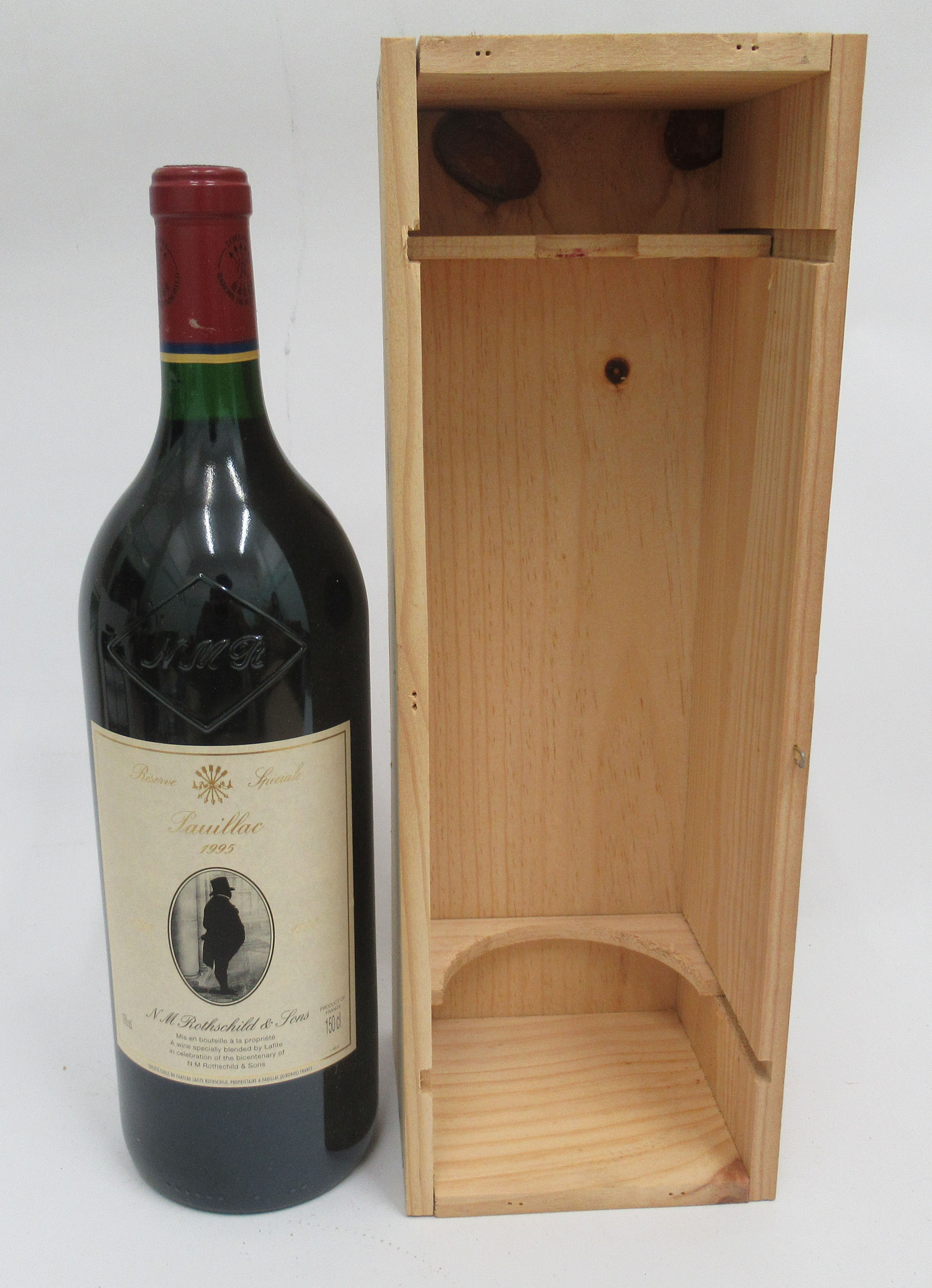 Wine, a magnum of 1995 Special Reserve NM Rothschild & Sons - Image 2 of 4