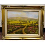 Donald Ayres - 'Dunkery Hill'oil on board bears a signature 11.5'' x 15.5'' framed